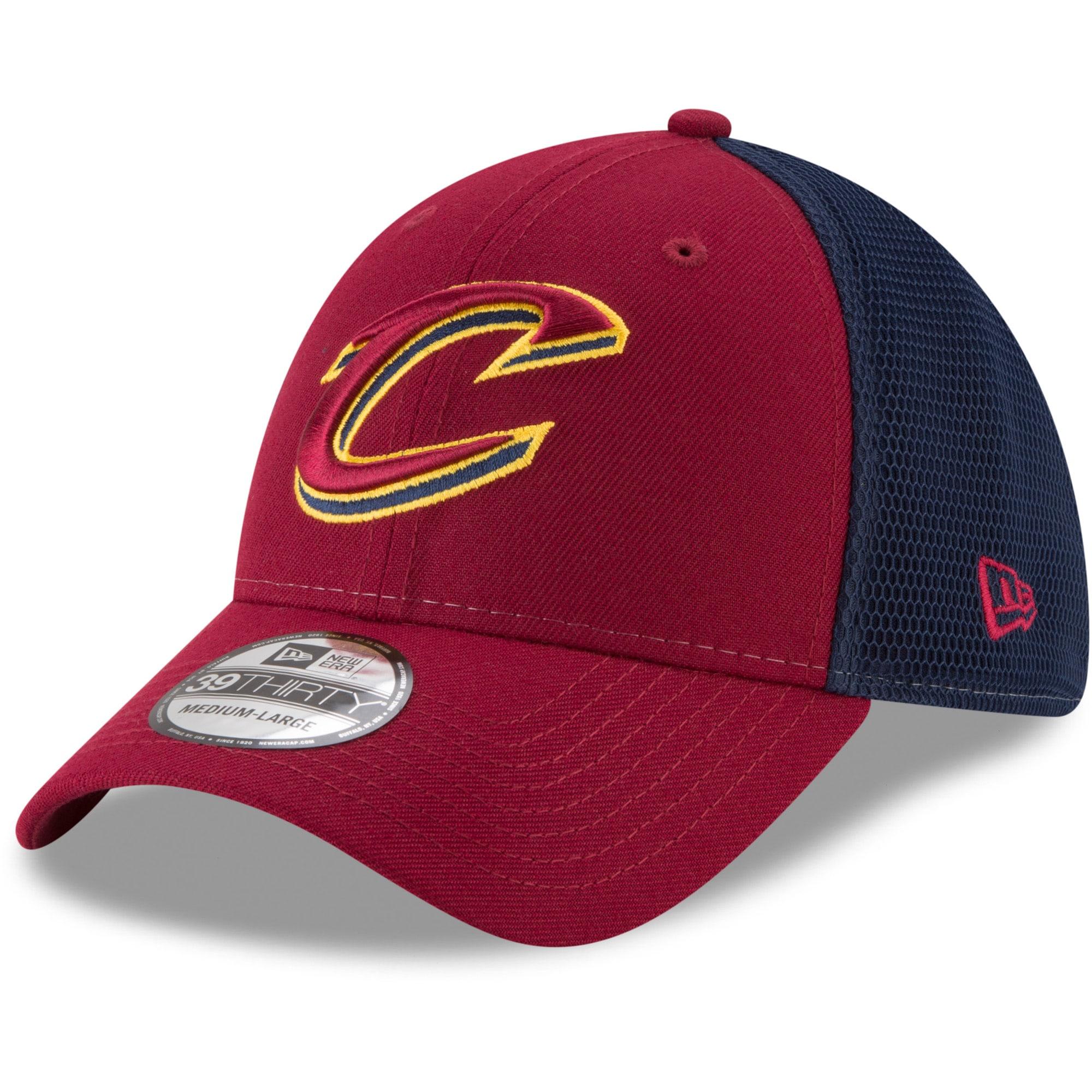 Cleveland Cavaliers New Era 2T Sided 39THIRTY Flex Hat - Wine