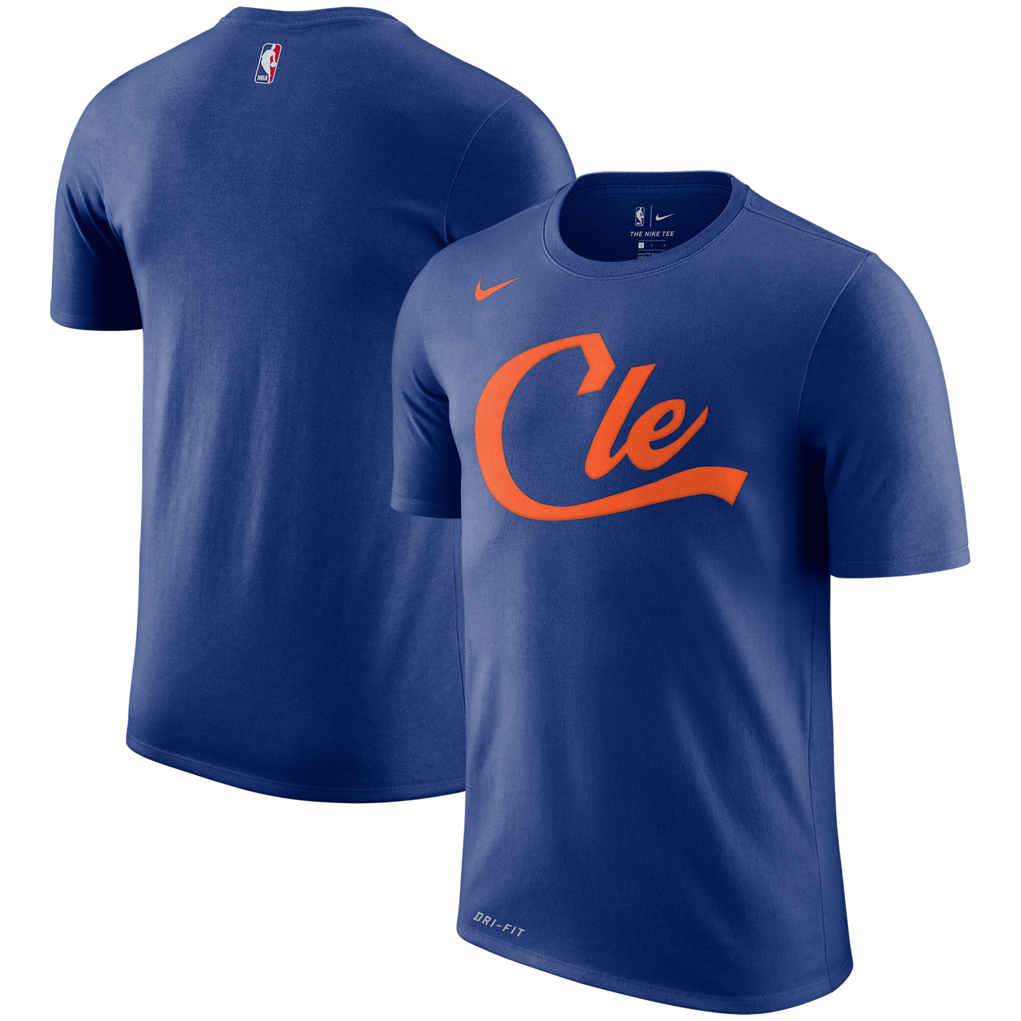 Cleveland Cavaliers Nike City Edition Performance Cotton Essential T-Shirt - Blue