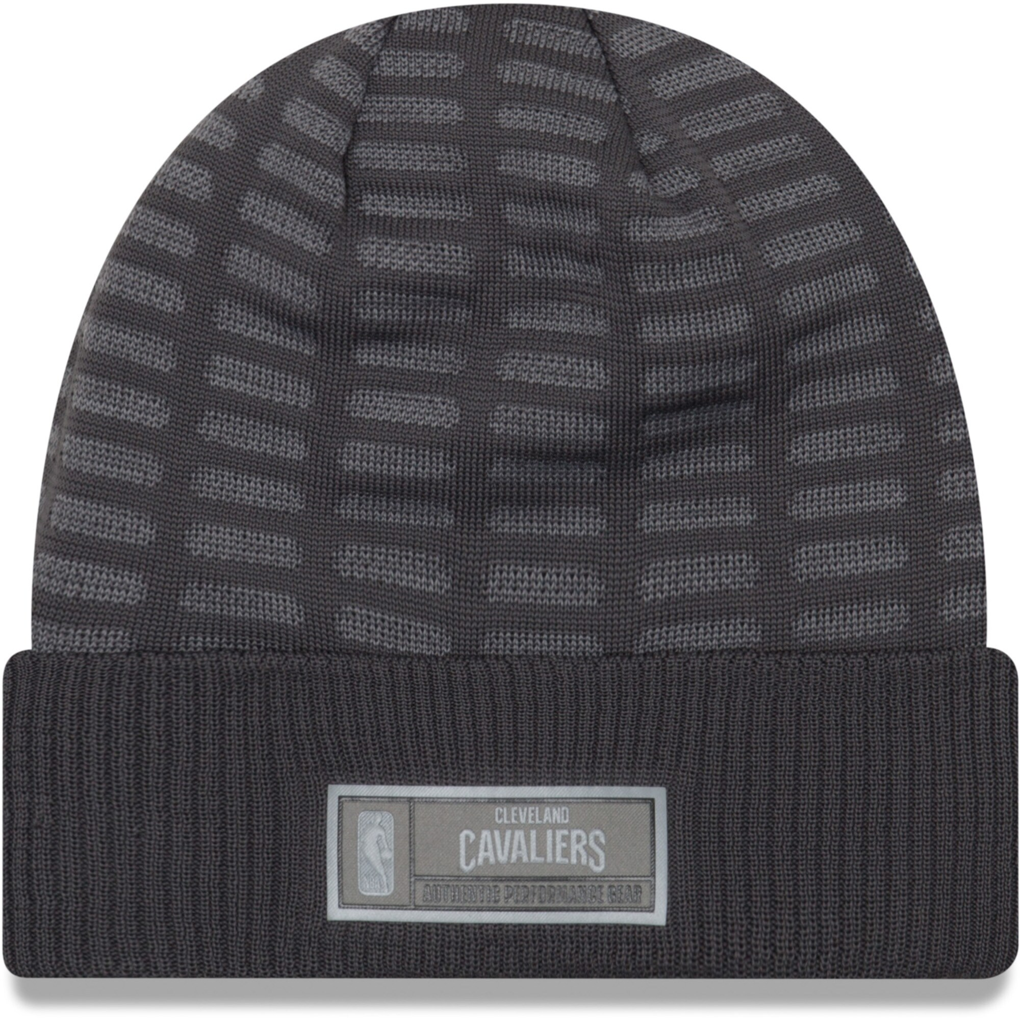 Cleveland Cavaliers New Era Authentic Training Cuffed Knit Hat - Graphite