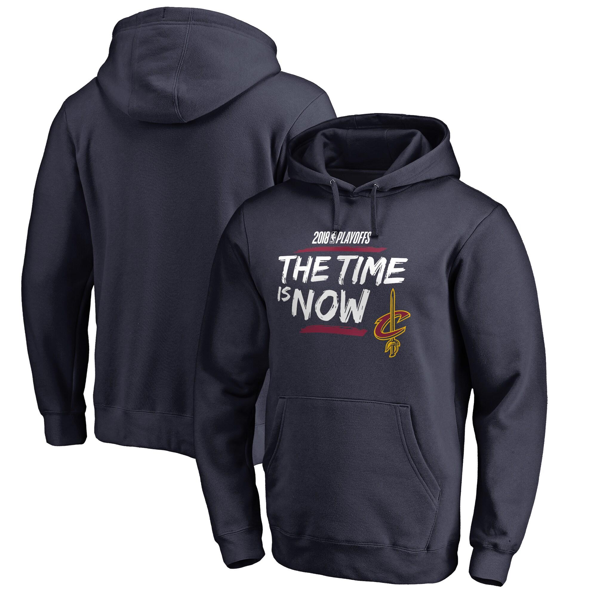 Cleveland Cavaliers Fanatics Branded 2018 NBA Playoffs Bet Slogan Pullover Hoodie - Navy
