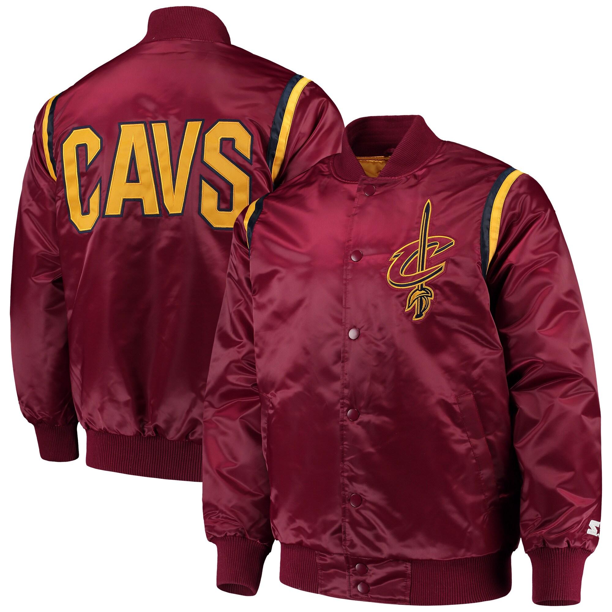 Cleveland Cavaliers Starter Full Snap Jacket - Wine
