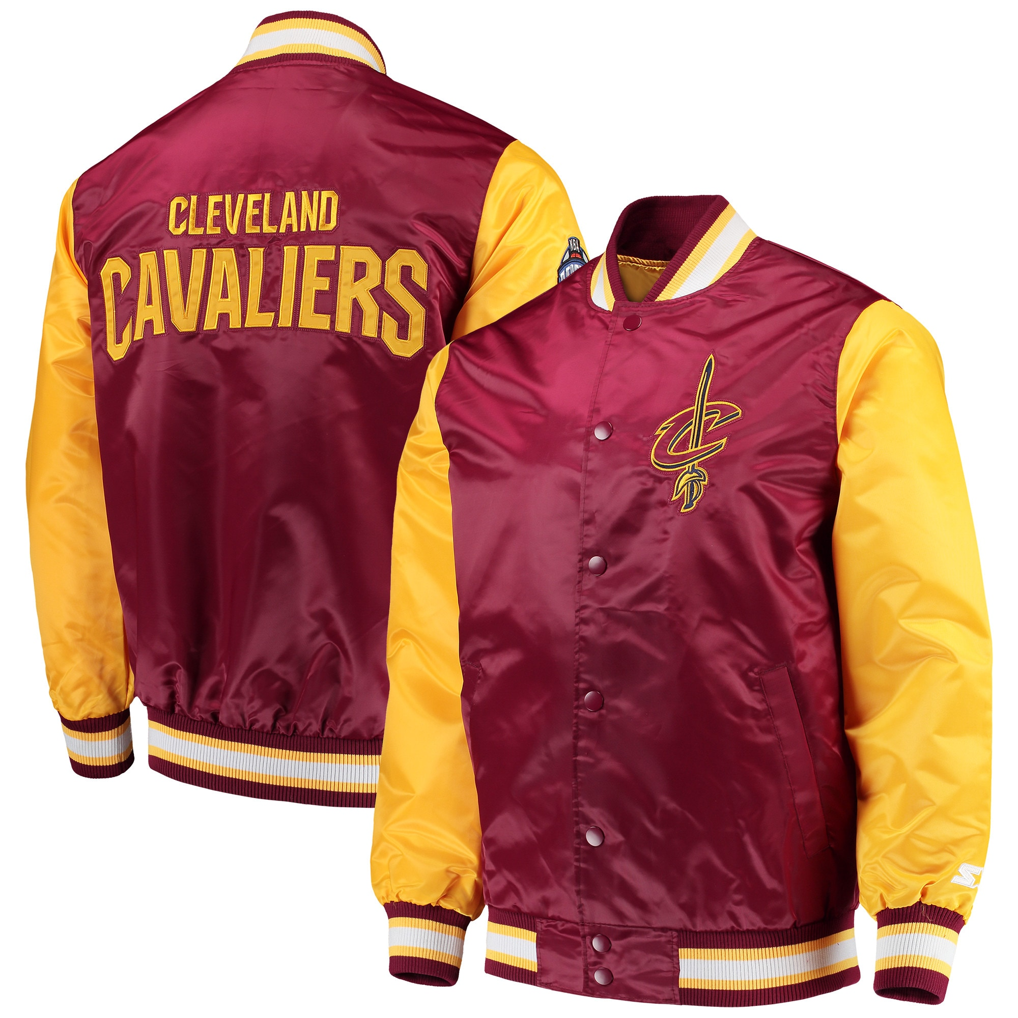 Cleveland Cavaliers Starter Rookie Full Snap Jacket - Wine/Gold