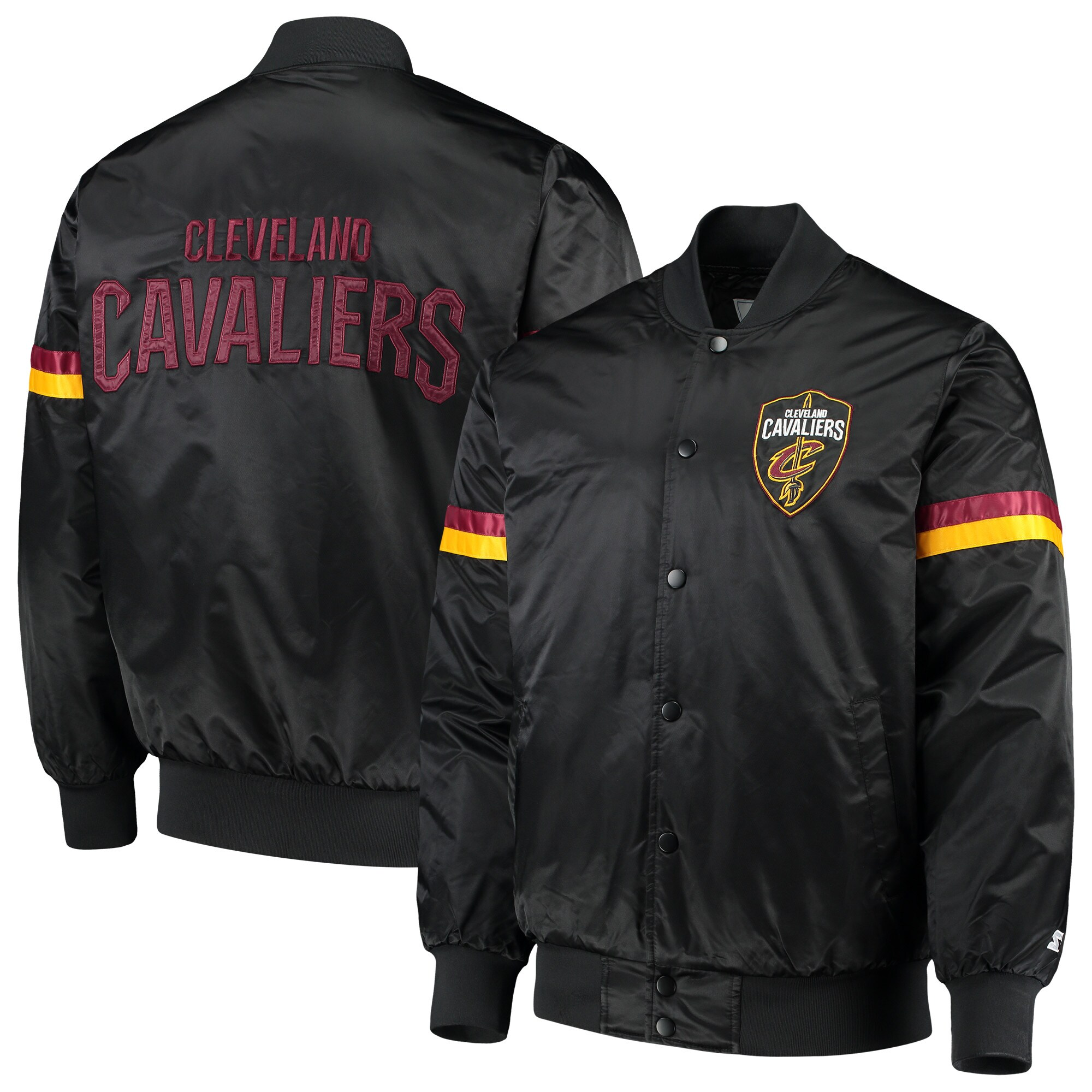 Cleveland Cavaliers Starter The Champ Varsity Satin Jacket - Black