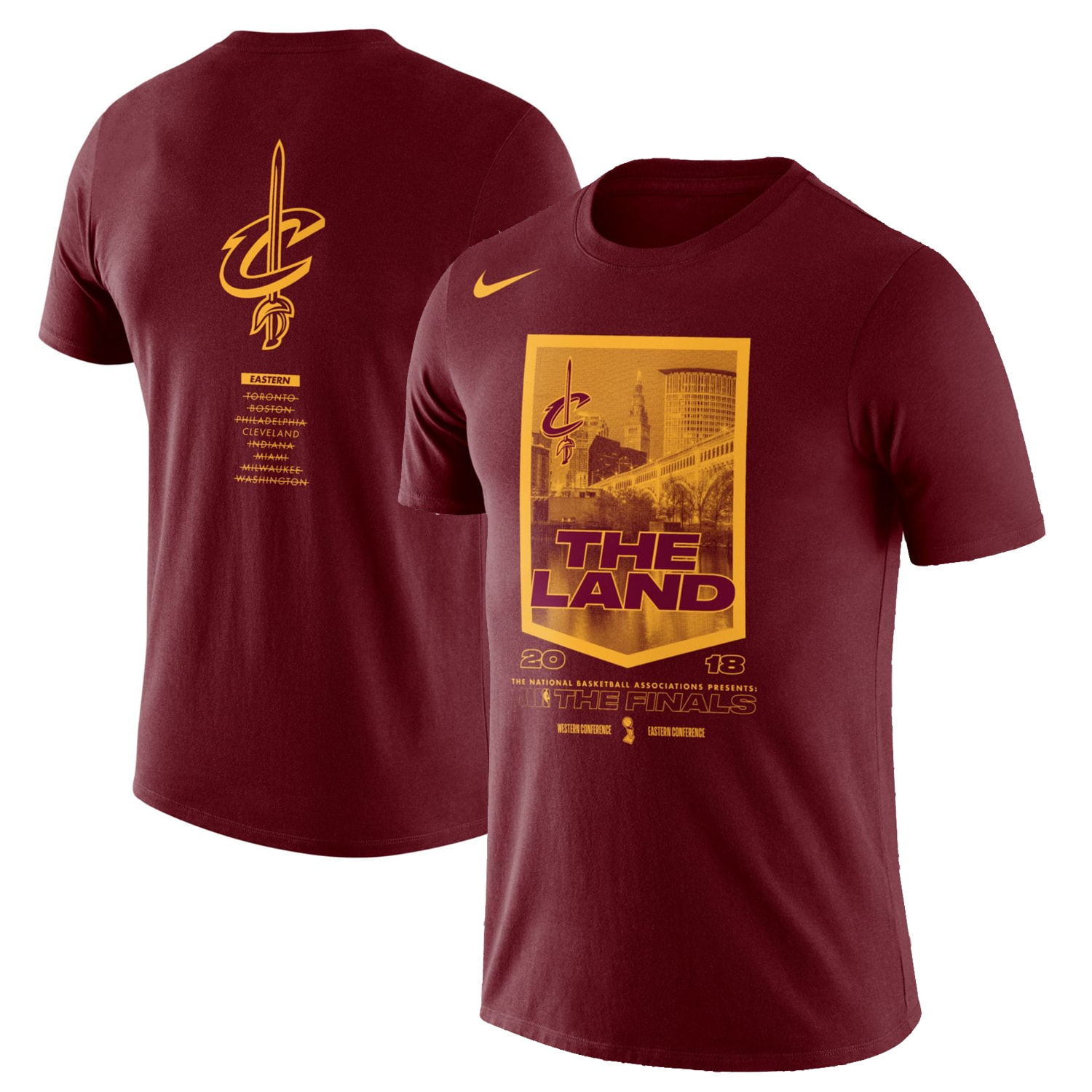Cleveland Cavaliers Nike 2018 NBA Finals Bound City DNA Cotton Performance T-Shirt - Red