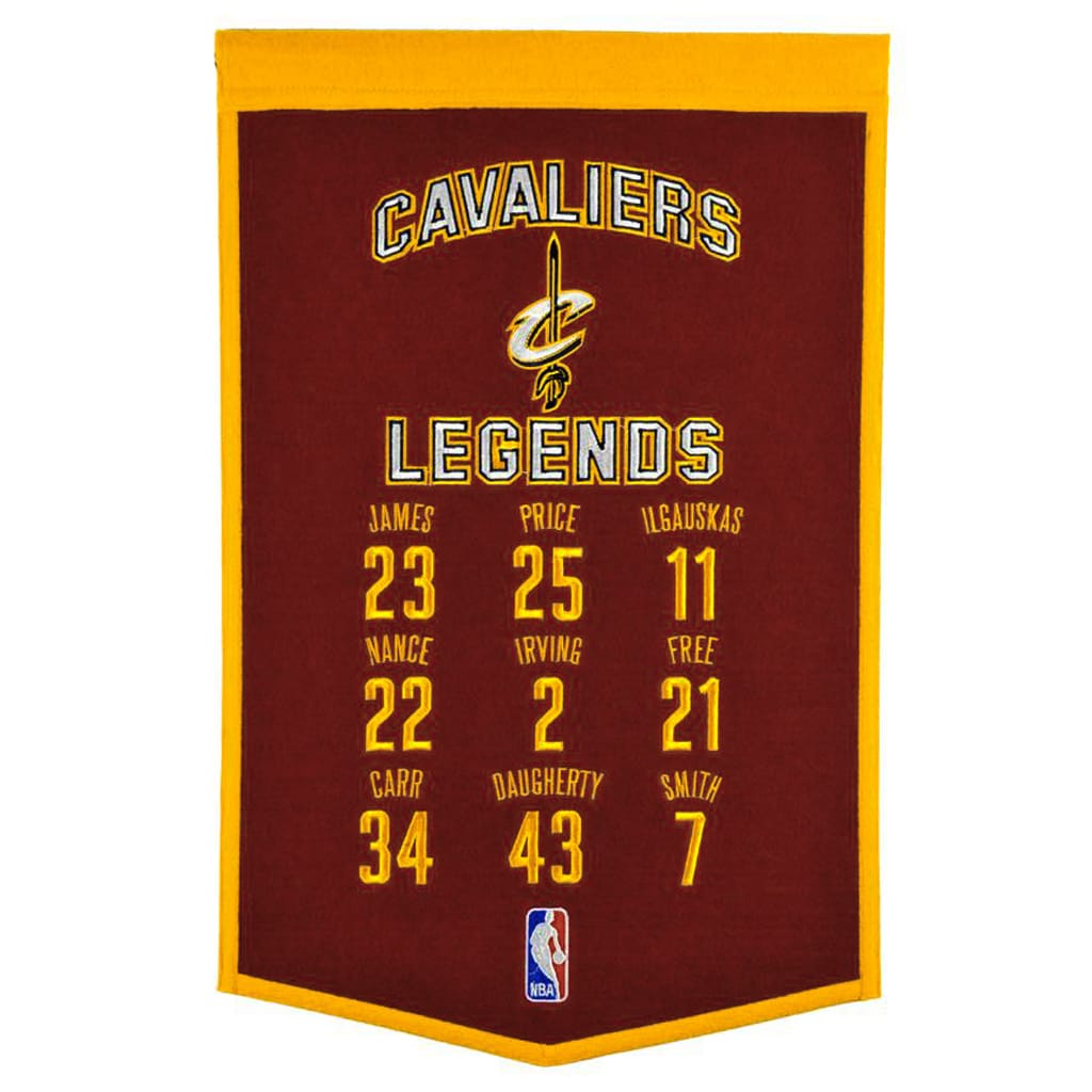 "Cleveland Cavaliers 14"" x 22"" Legends Banner"