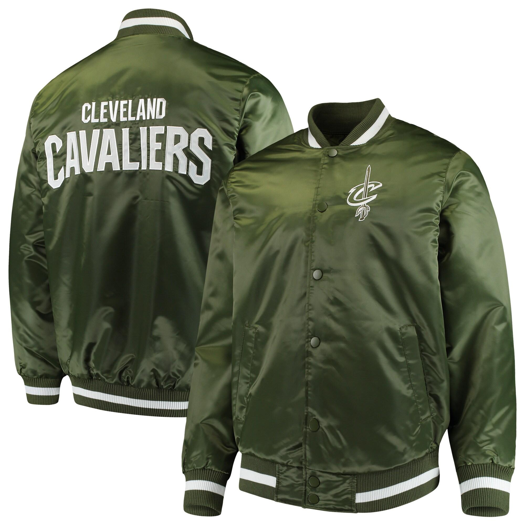 Cleveland Cavaliers Starter Satin Full-Snap Jacket - Green