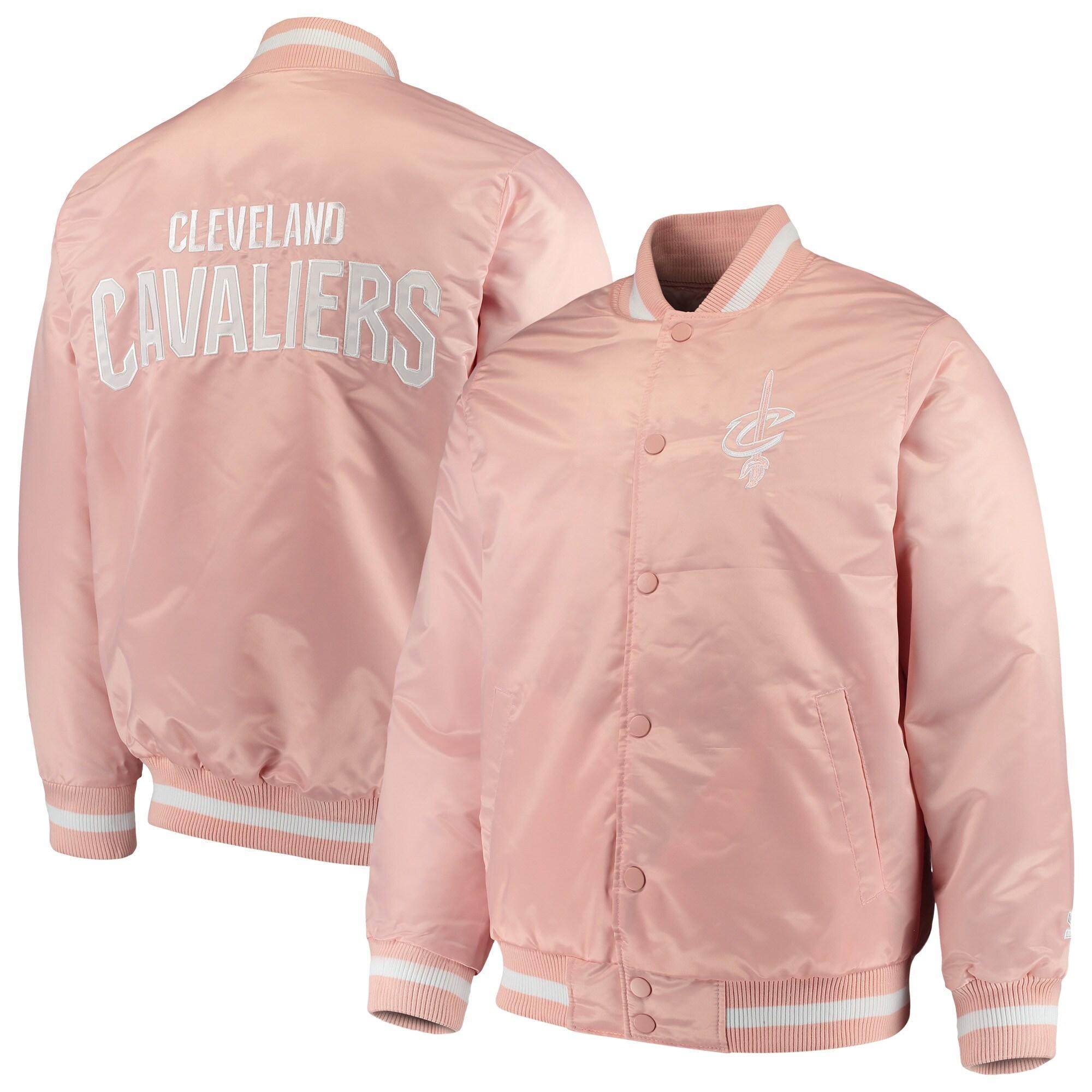 Cleveland Cavaliers Starter Satin Full-Snap Jacket - Pink