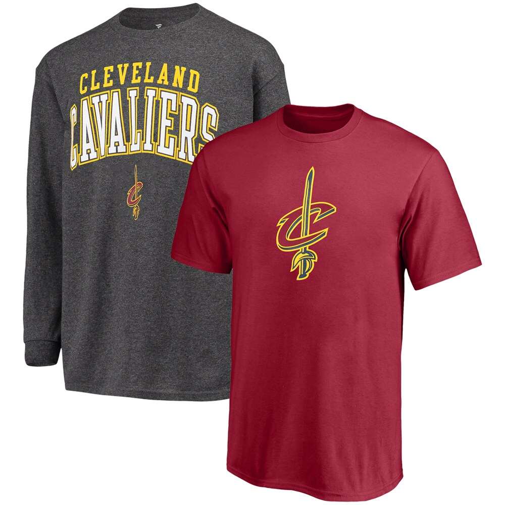 Cleveland Cavaliers Fanatics Branded Youth Square T-Shirt Combo Set - Wine/Gray