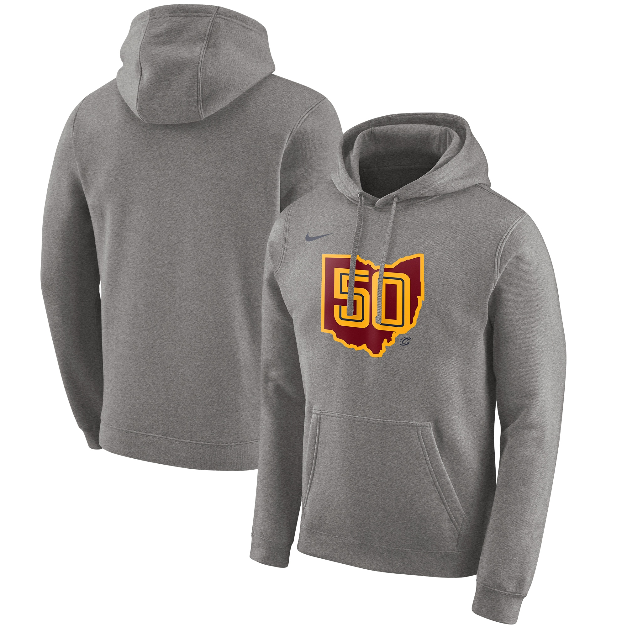 Cleveland Cavaliers Nike 2019/20 City Edition Club Pullover Hoodie - Heather Gray