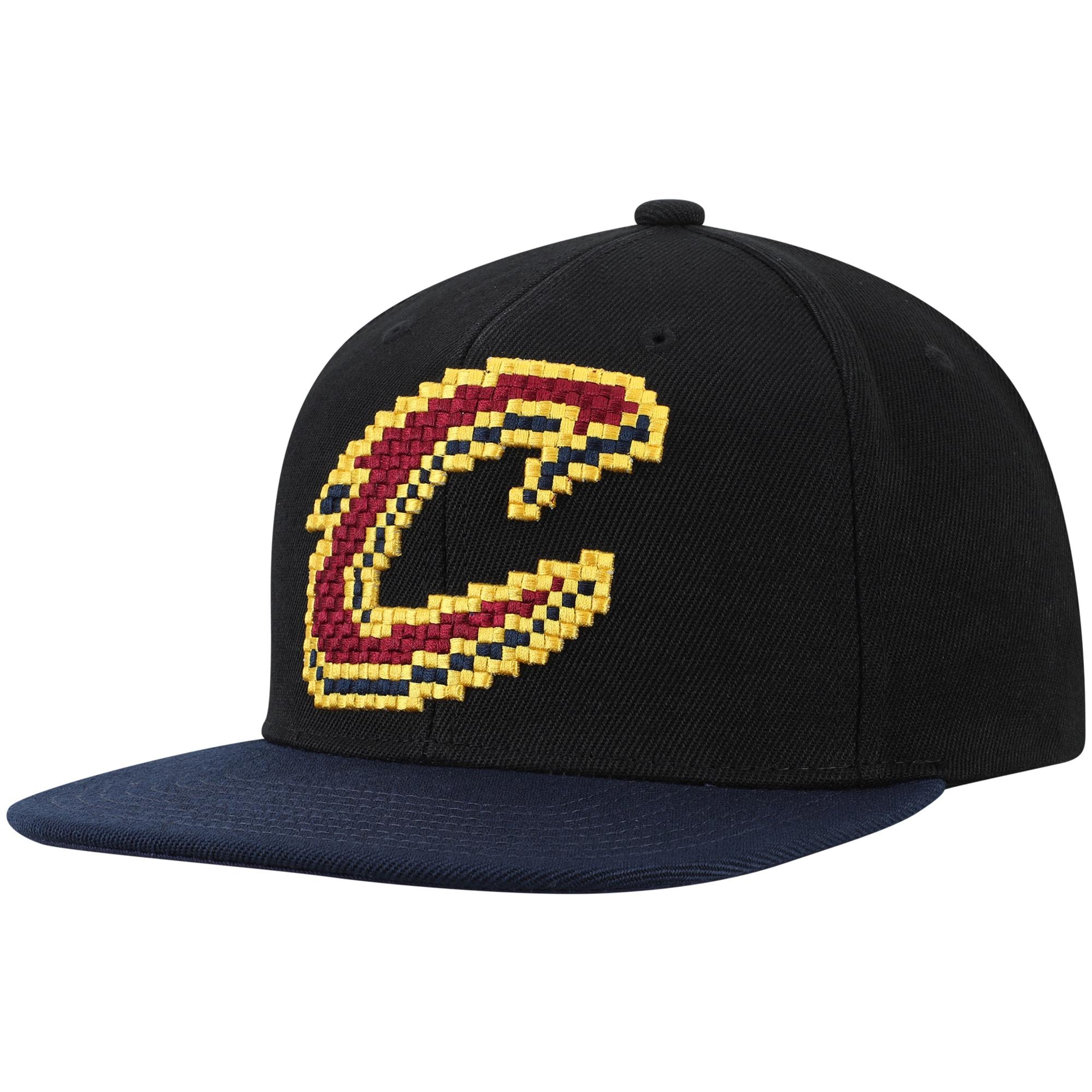 Cleveland Cavaliers Mitchell & Ness 8-Bit Two-Tone Adjustable Snapback Hat - Black
