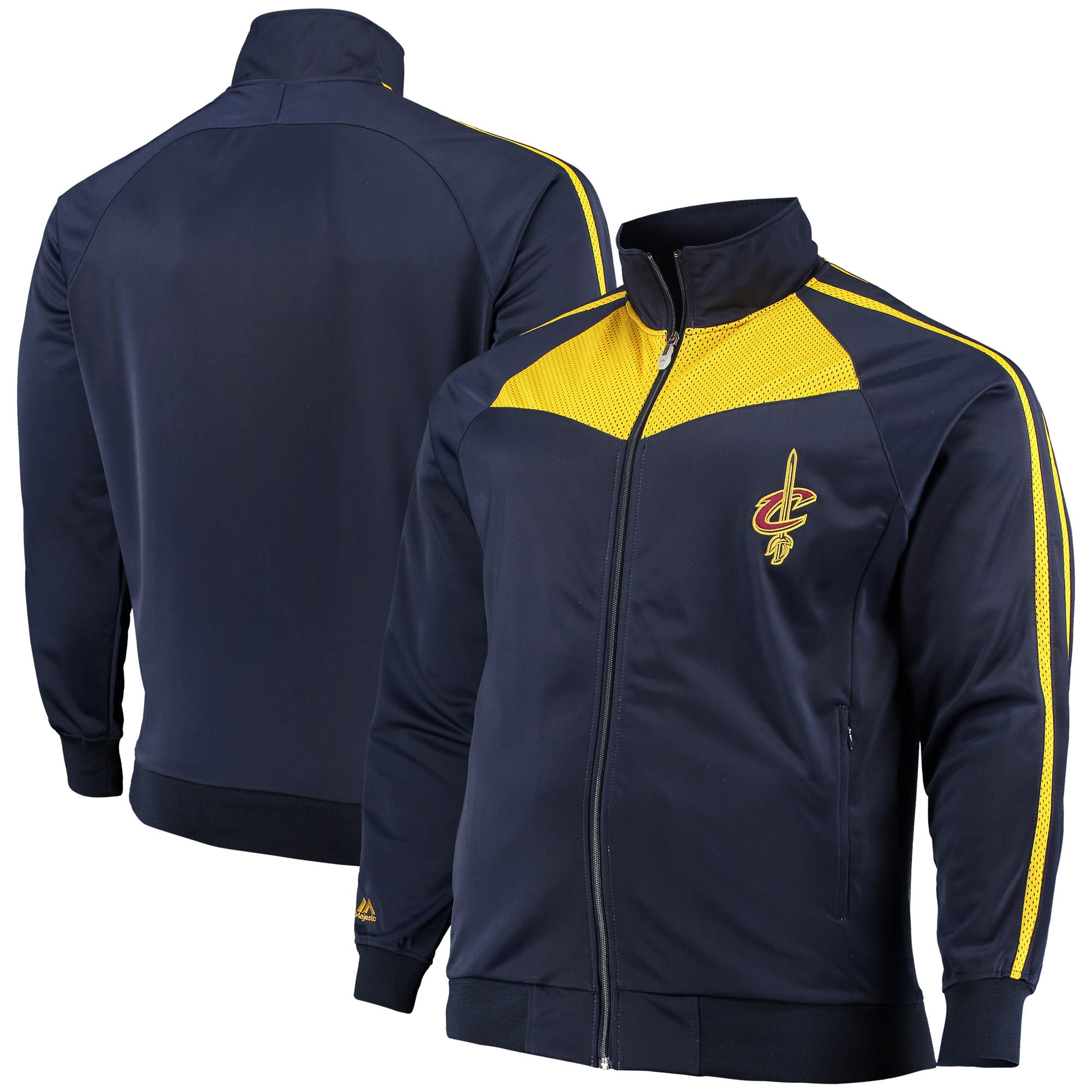 Cleveland Cavaliers Big & Tall Team Showtime Tricot Full-Zip Track Jacket - Navy/Gold