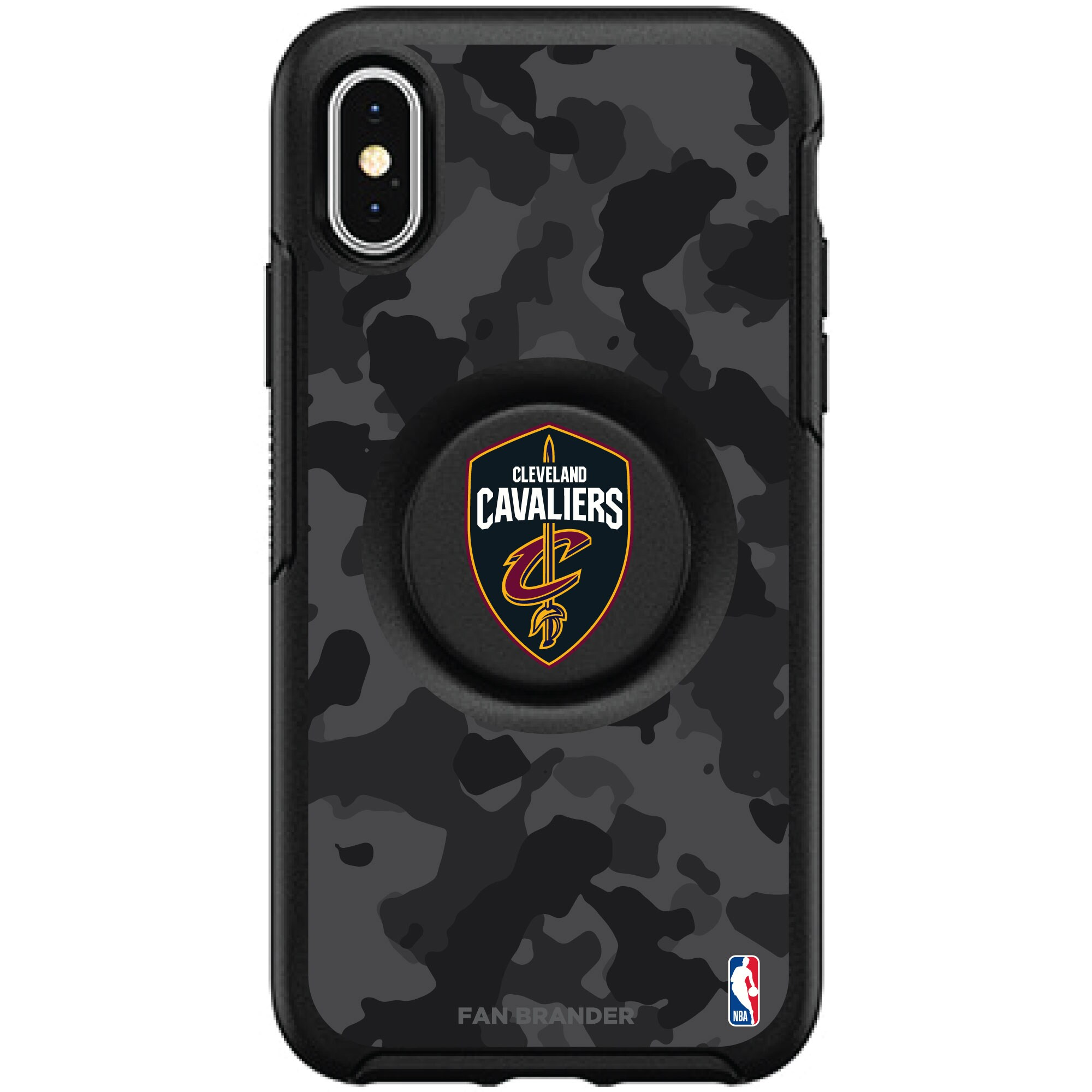 Cleveland Cavaliers OtterBox Otter + PopSocket Symmetry Urban Camo iPhone Case
