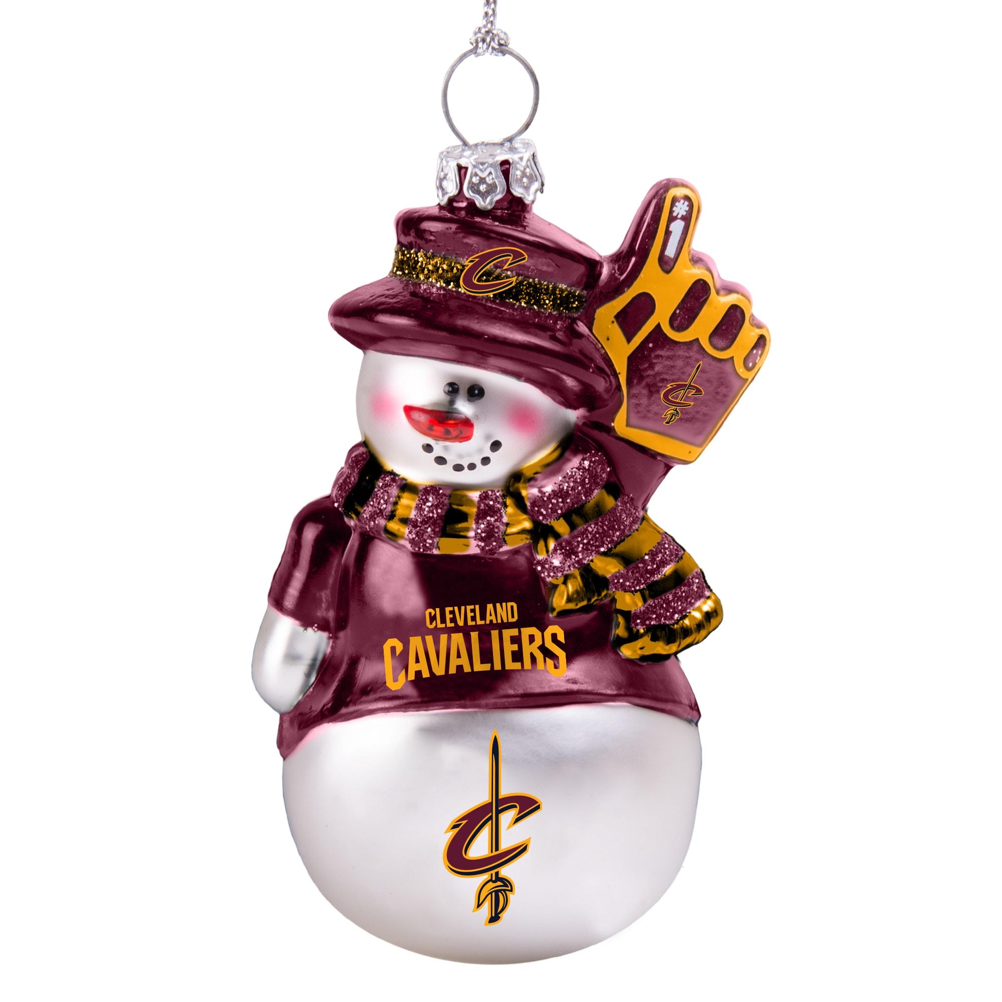Cleveland Cavaliers Glitter Snowman Ornament