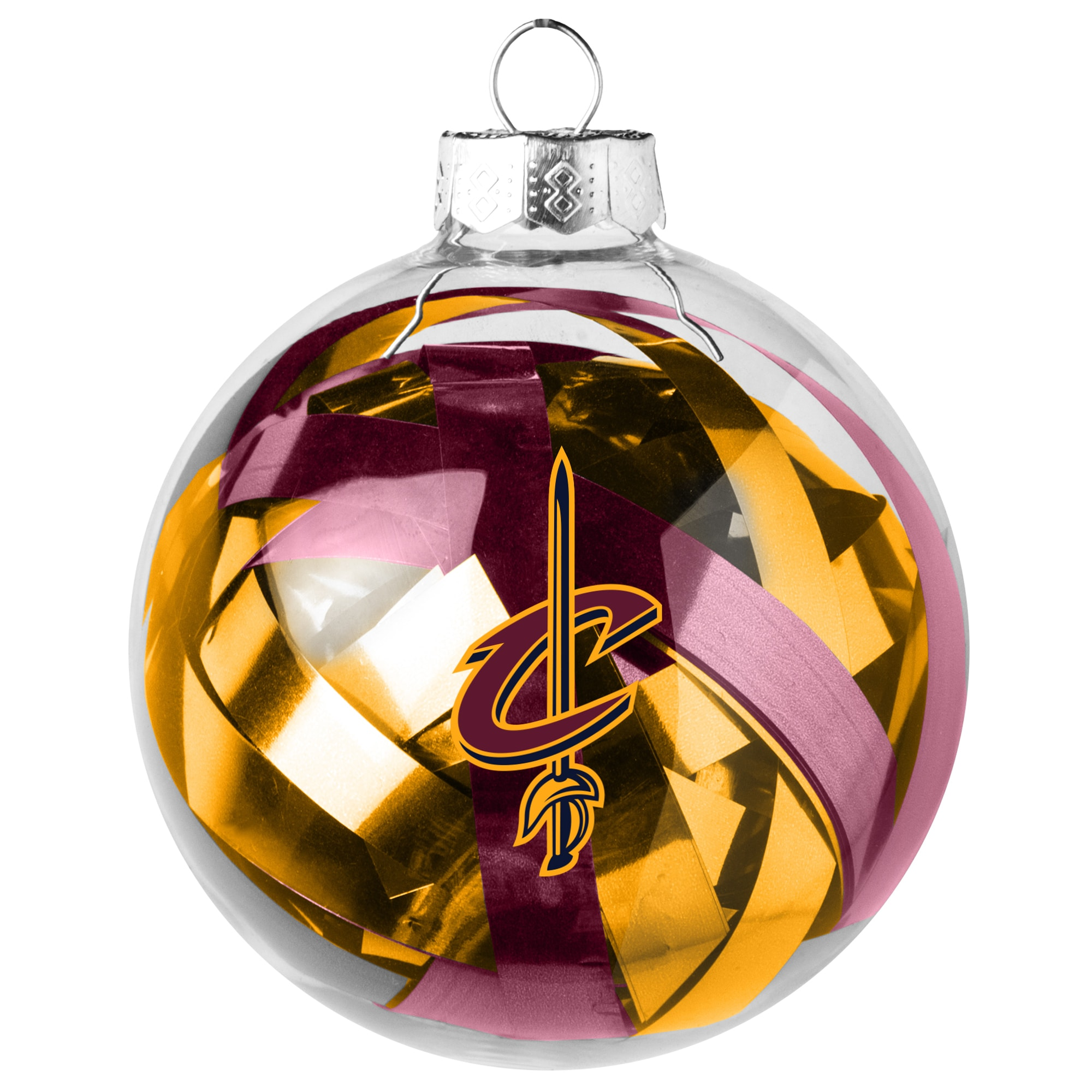 Cleveland Cavaliers Large Tinsel Ball Ornament