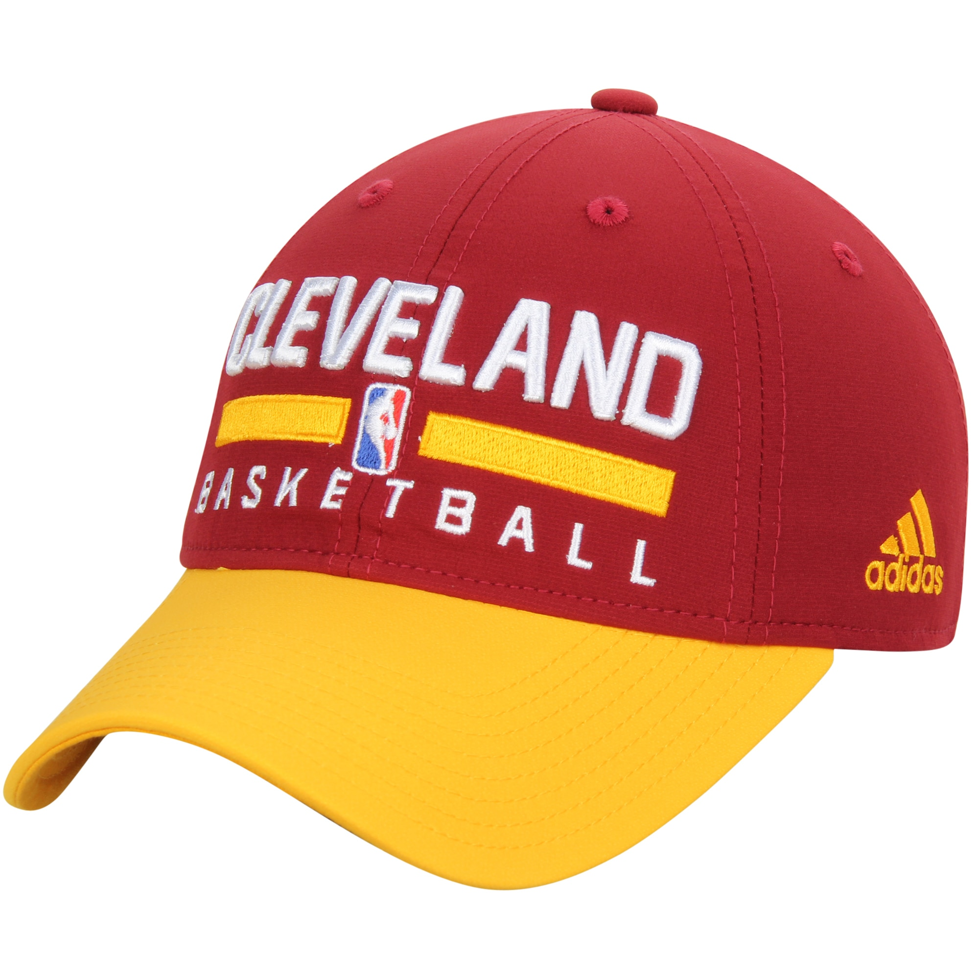 Cleveland Cavaliers adidas 2-Tone Practice Slouch Adjustable Hat - Wine