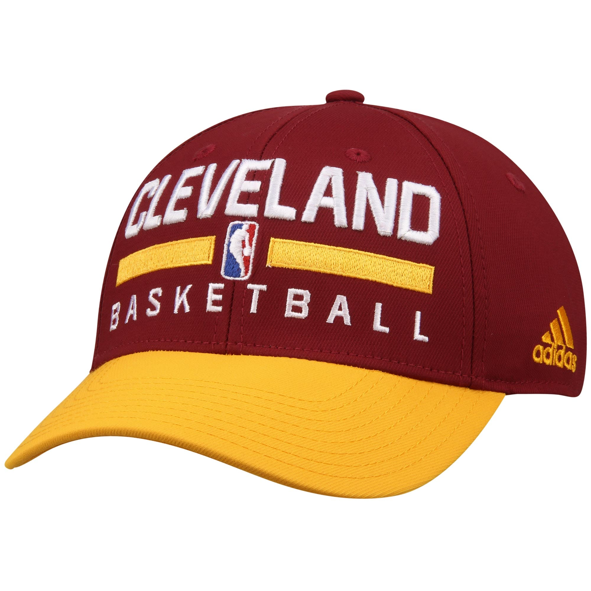Cleveland Cavaliers adidas 2-Tone Practice Structured Snapback Hat - Maroon/Yellow