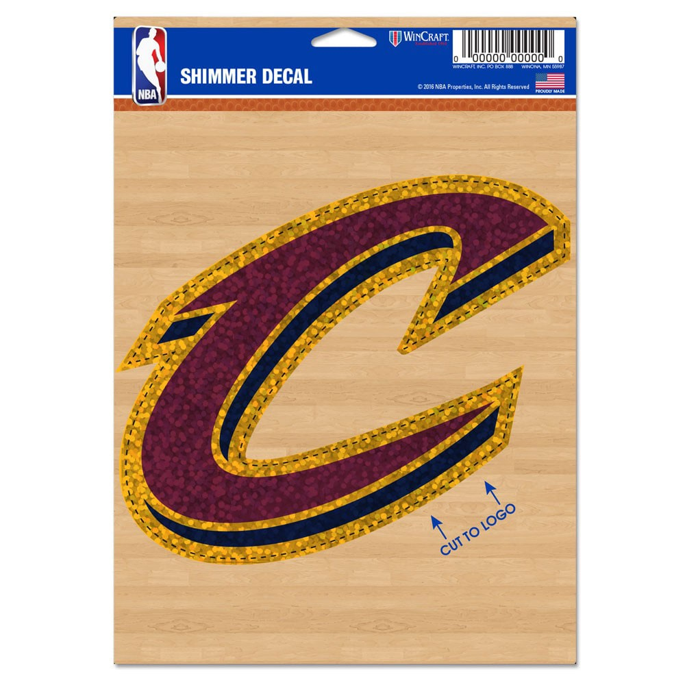 """Cleveland Cavaliers WinCraft 5"""" x 7"""" Shimmer Decal"""