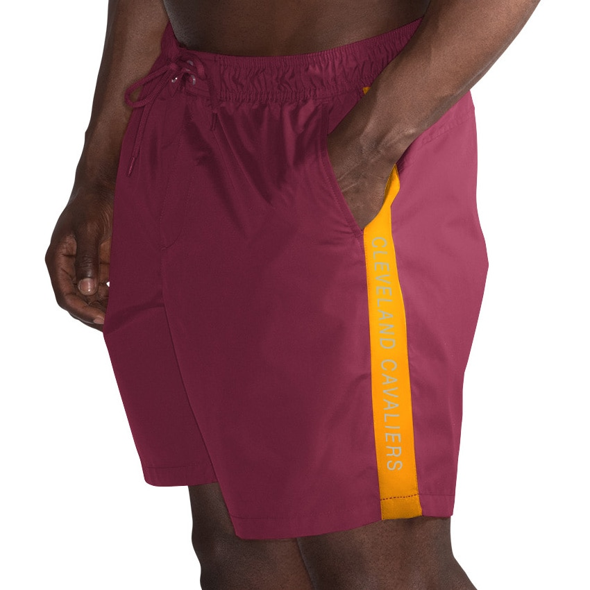 Cleveland Cavaliers G-III Sports by Carl Banks Volley Swim Trunks - Wine/Gold