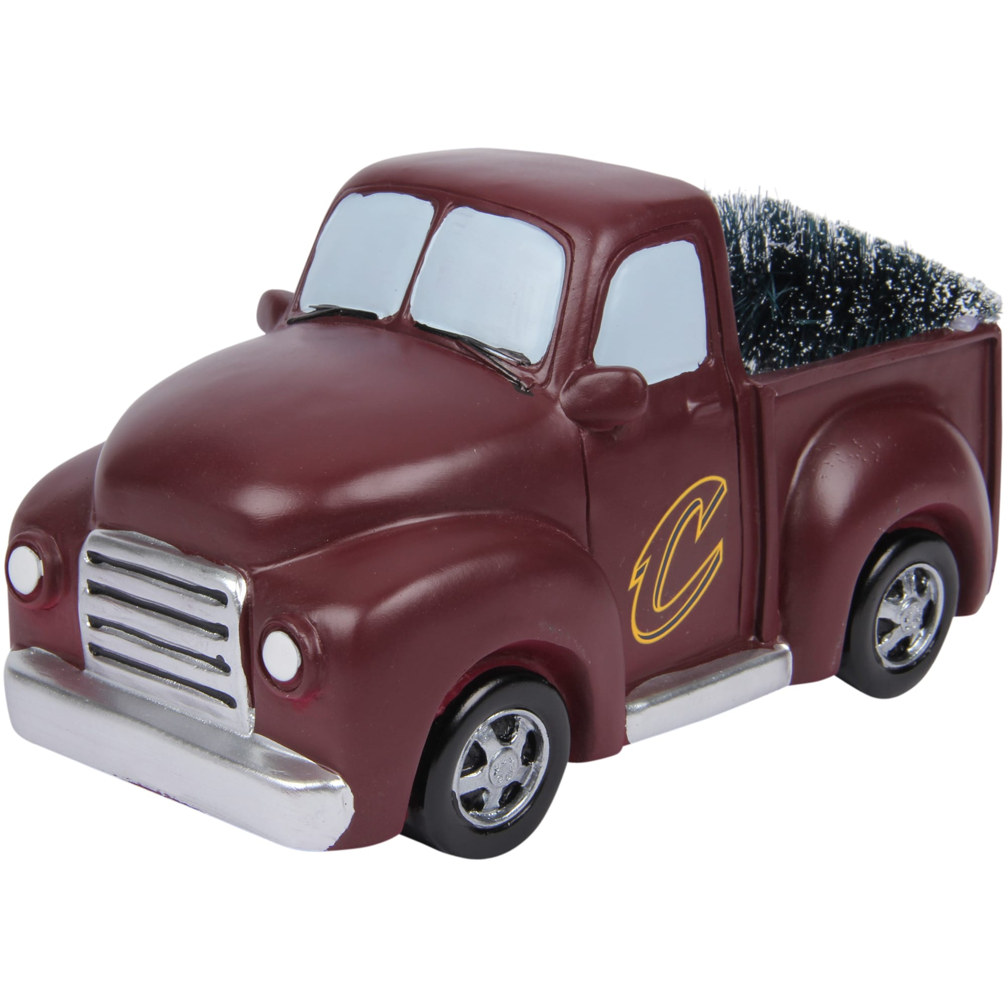 Cleveland Cavaliers Truck With Tree Table Top Ornament