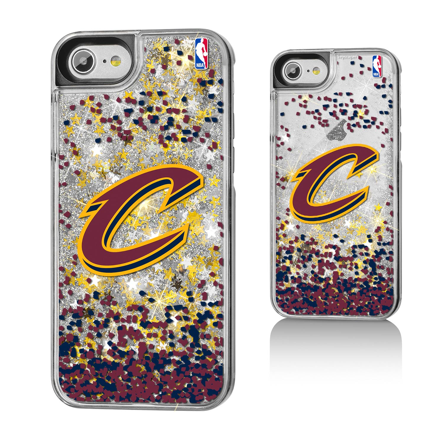 Cleveland Cavaliers Gold Glitter iPhone 8/7/6s/6 Case