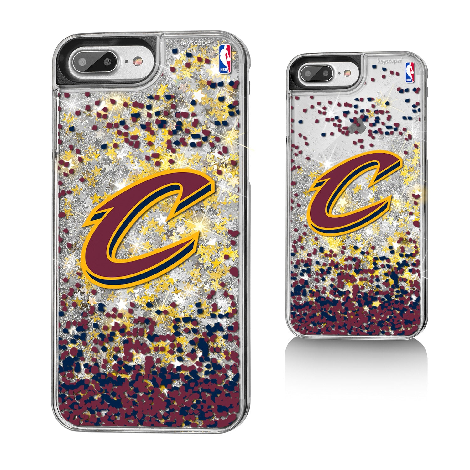 Cleveland Cavaliers Gold Glitter iPhone 8 Plus/7 Plus/6 Plus Case