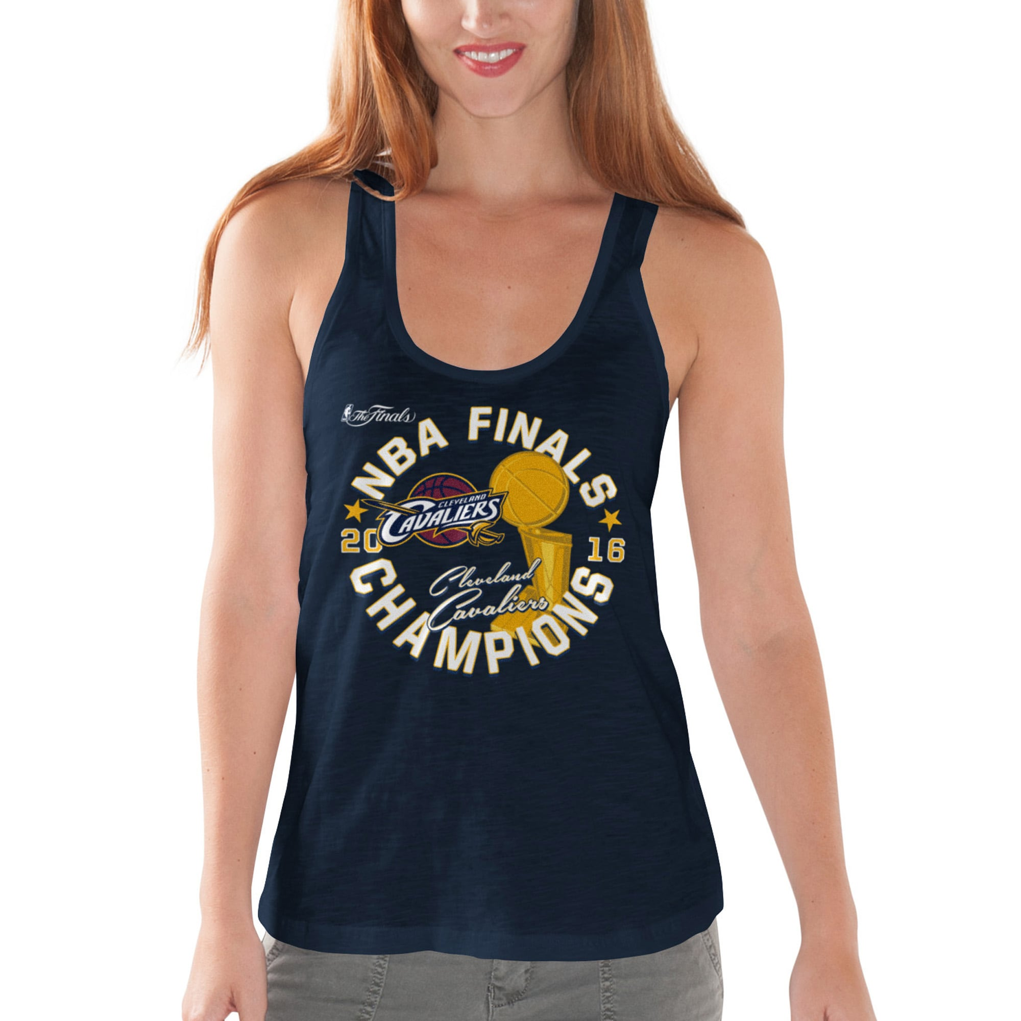 Cleveland Cavaliers G-III 4Her by Carl Banks Women's 2016 NBA Finals Champions Trophy Tank Top - Navy
