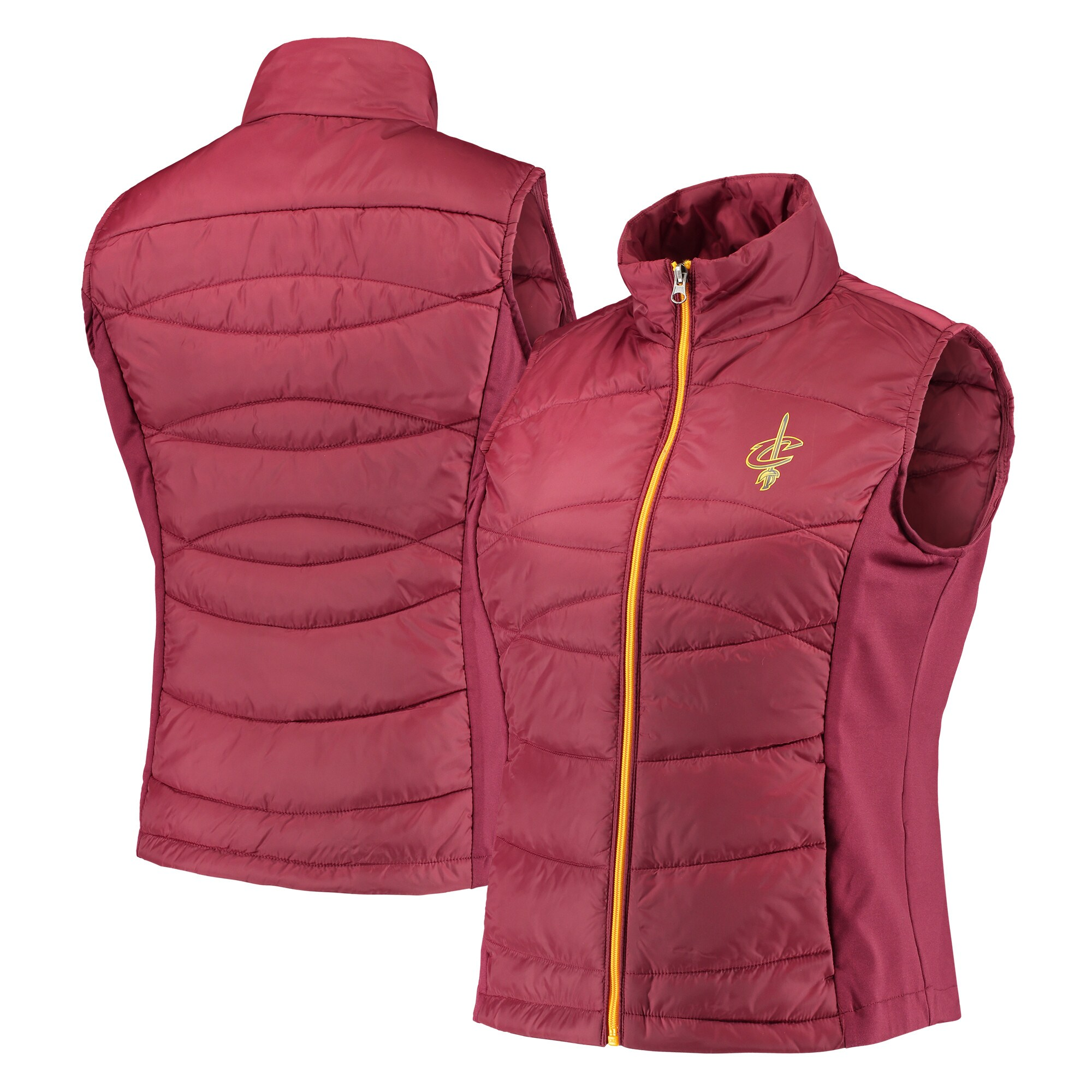 Cleveland Cavaliers G-III 4Her by Carl Banks Women's Wing Back Lightweight Polyfill Vest - Wine