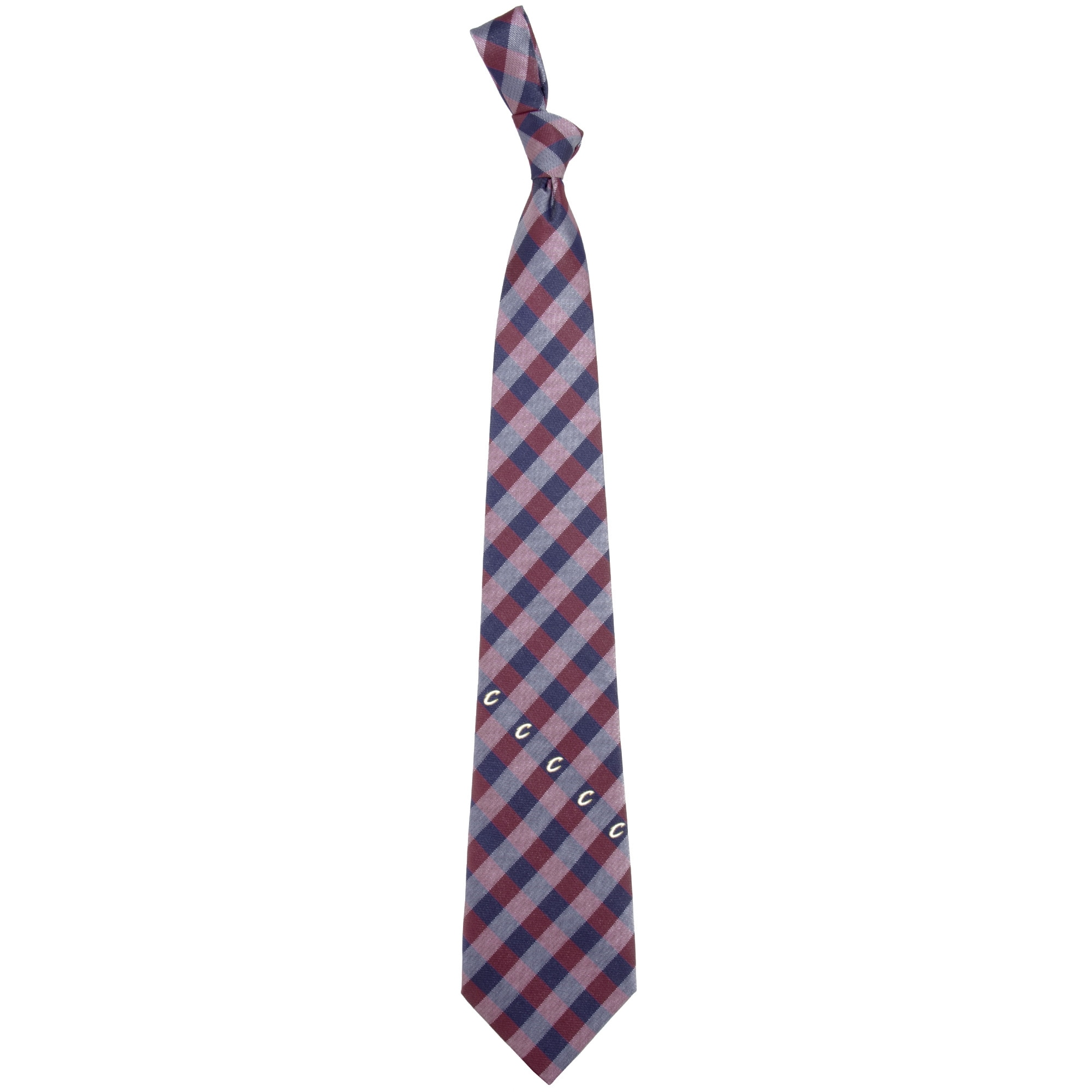 Cleveland Cavaliers Woven Checkered Tie - Wine/Navy Blue
