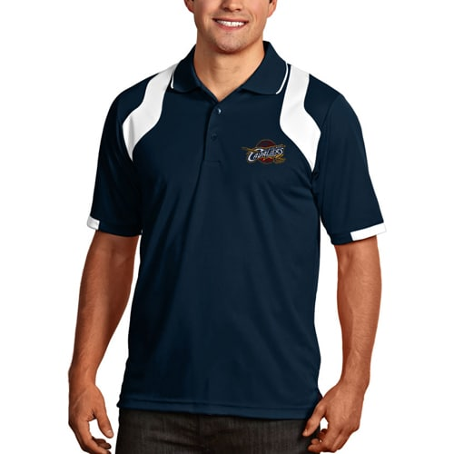Cleveland Cavaliers Antigua Essentials Fusion Performance Polo - Navy Blue
