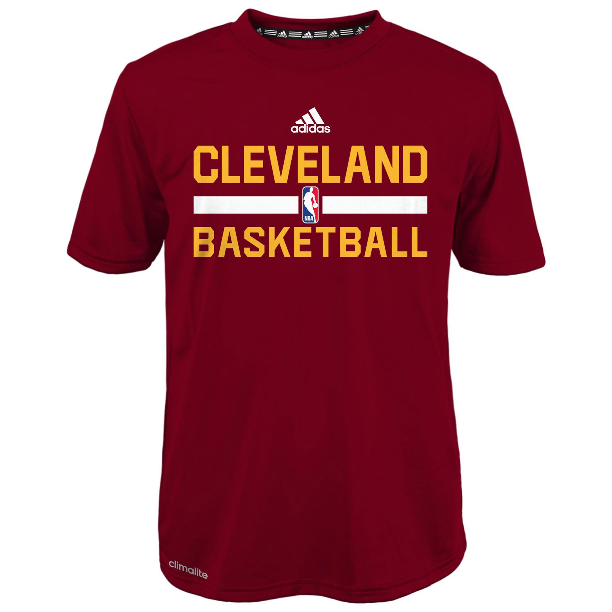 Cleveland Cavaliers adidas Youth Practice Wear Performance T-Shirt - Garnet