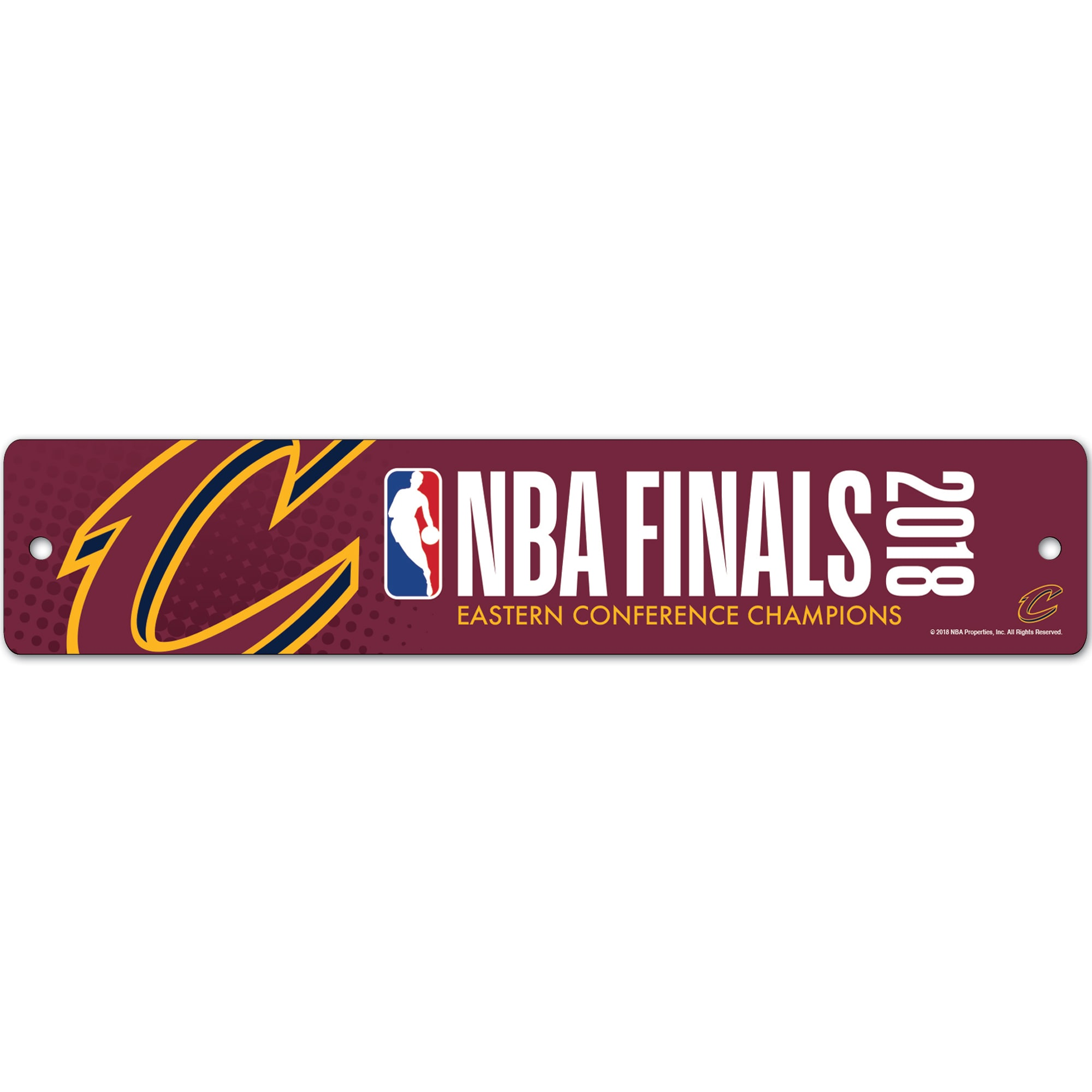"""Cleveland Cavaliers WinCraft 2018 Eastern Conference Champions 3.75"""" x 19"""" Street Sign"""