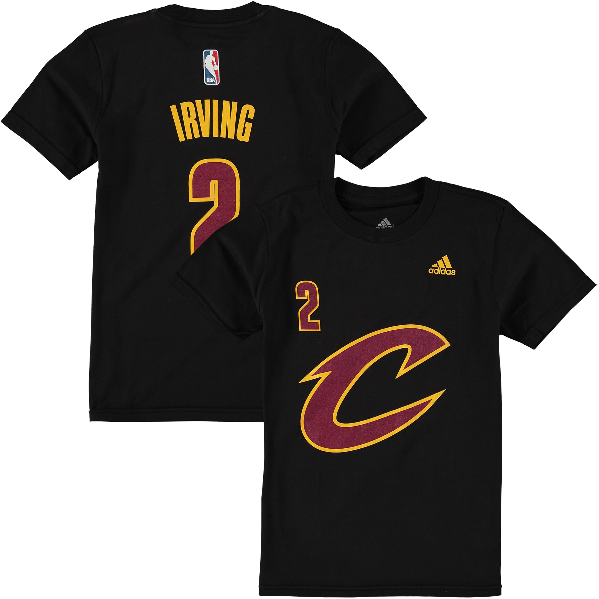 Kyrie Irving Cleveland Cavaliers Game Time Flat Name & Number T-Shirt - Black