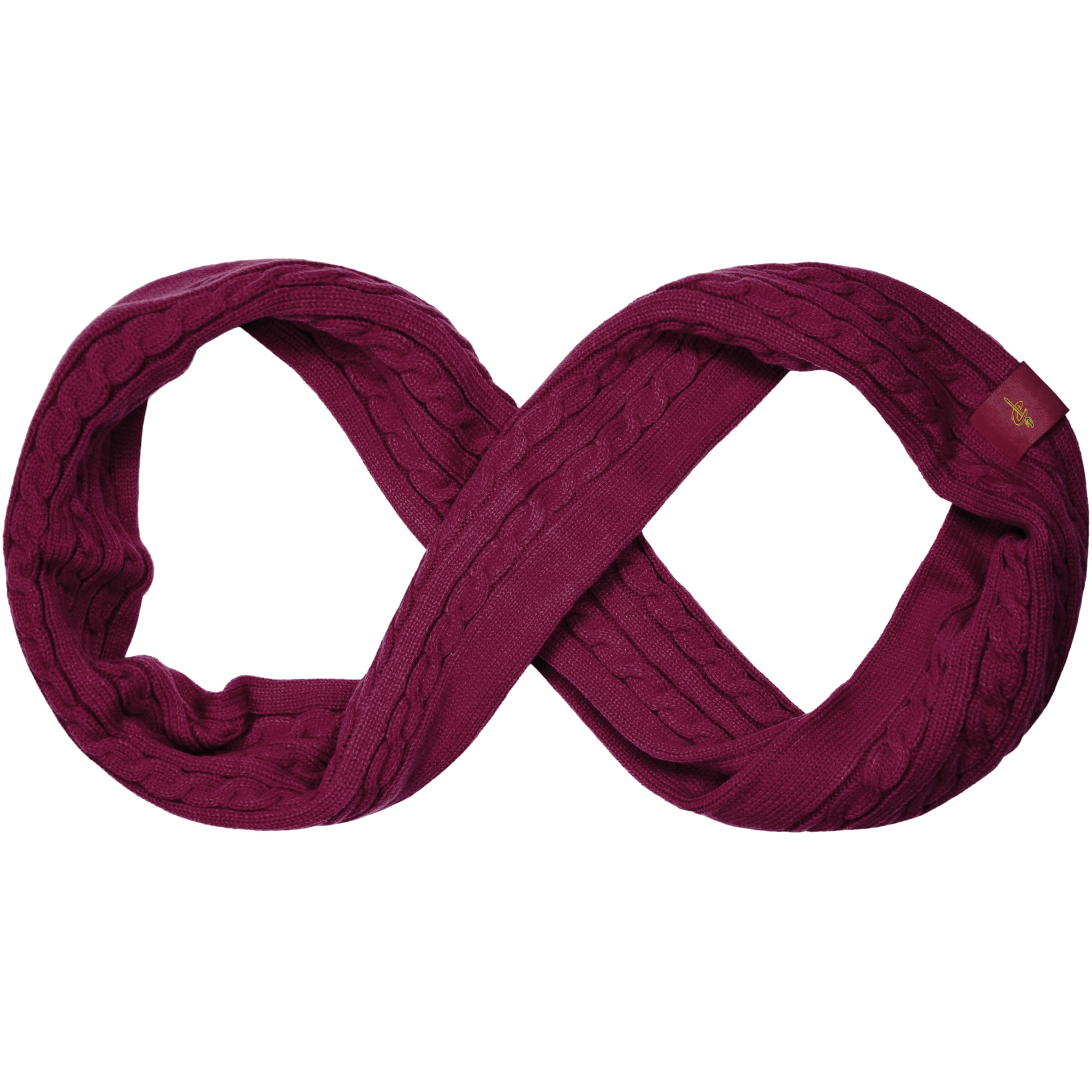 Cleveland Cavaliers Women's Cable Knit Infinity Scarf - Wine