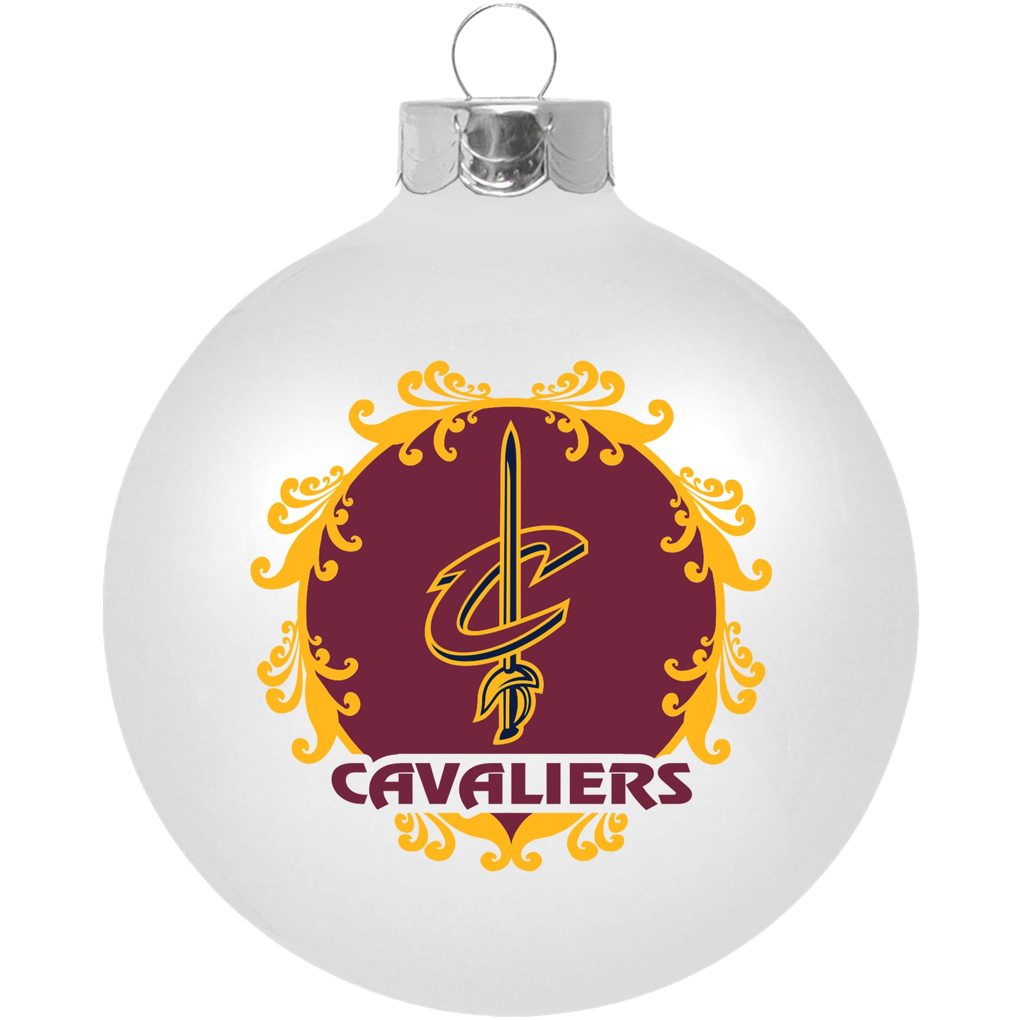 """Cleveland Cavaliers Large 3 1/4"""" Ornament"""