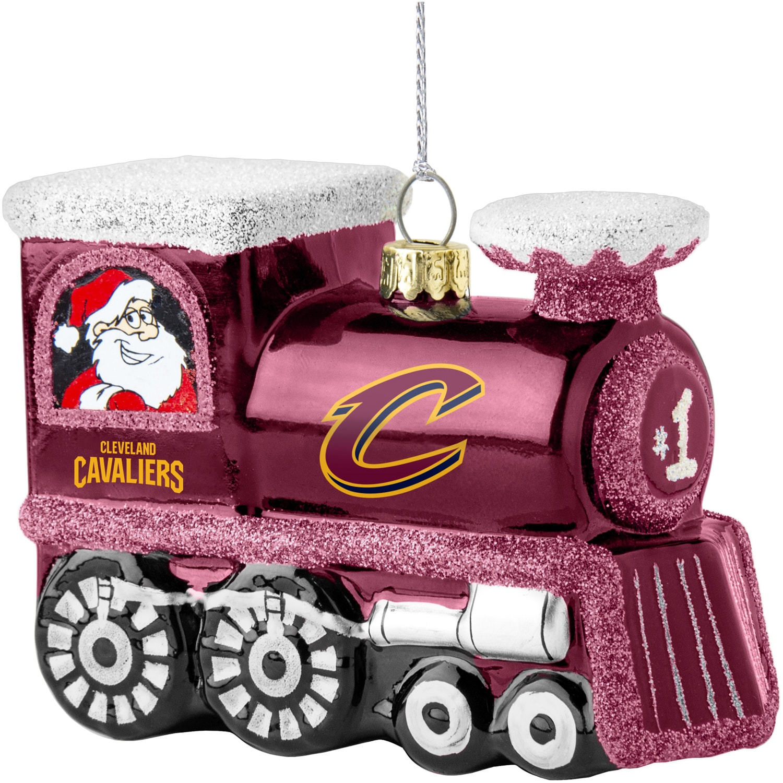 Cleveland Cavaliers Blown Glass Team Logo Train Ornament