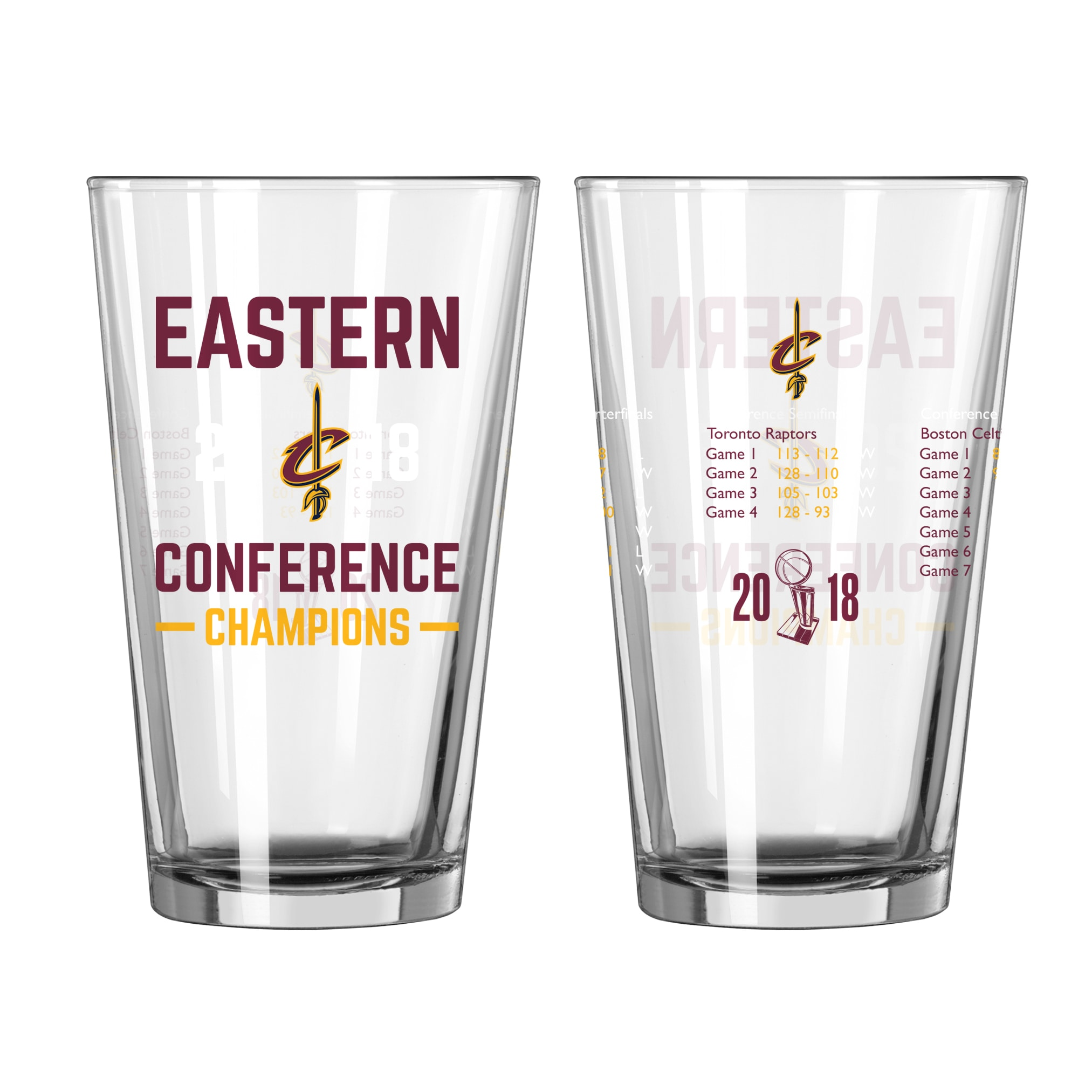 Cleveland Cavaliers 2018 Eastern Conference Champions 16oz. Summary Pint Glass