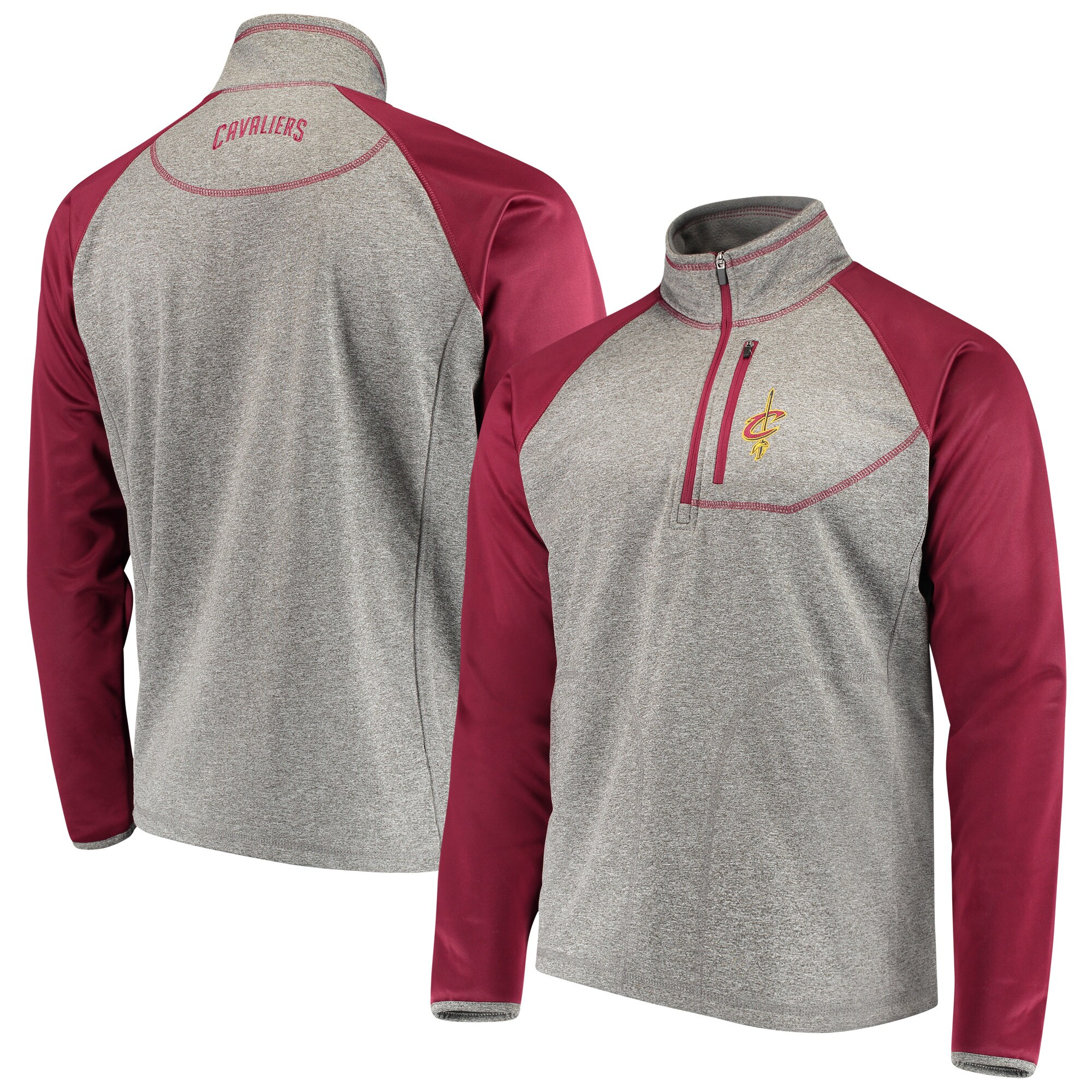 Cleveland Cavaliers G-III Sports by Carl Banks Mountain Trail Half-Zip Pullover Jacket - Gray/Wine