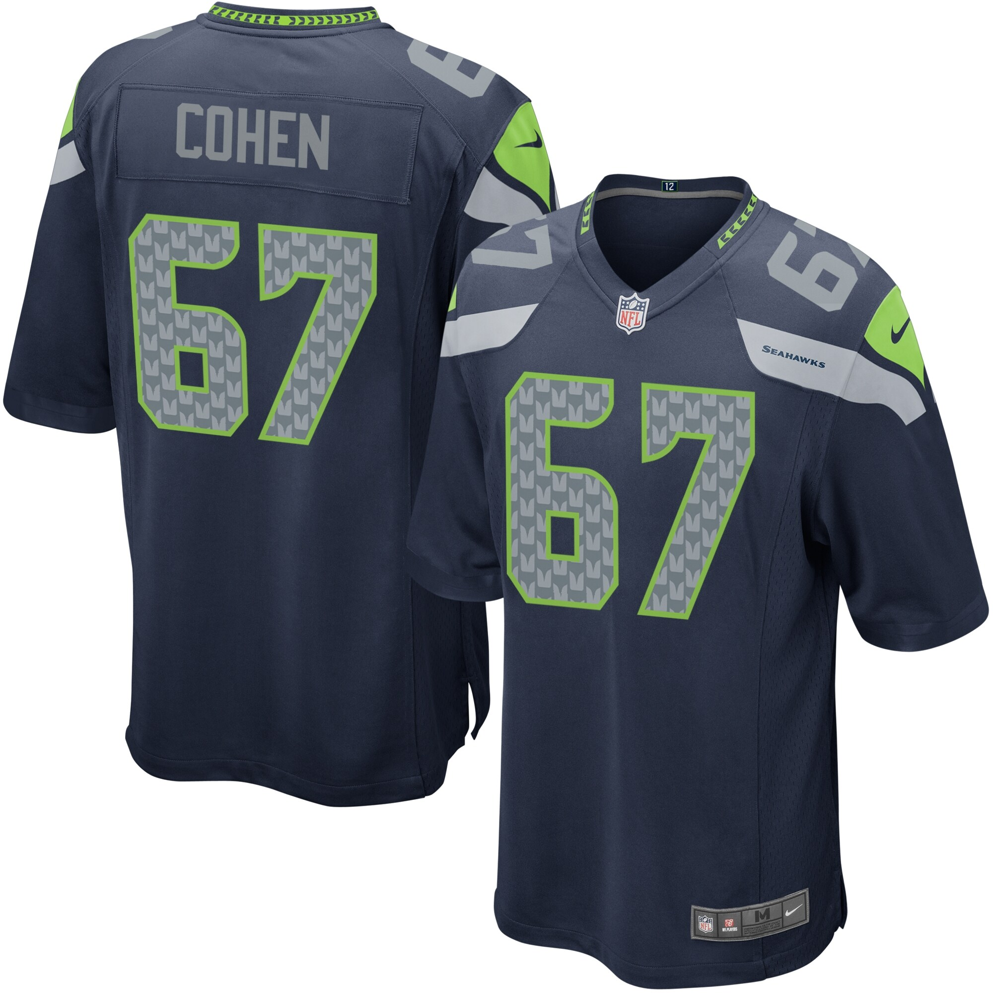 Nike Youth Seattle Seahawks Landon Cohen Team Color Game Jersey