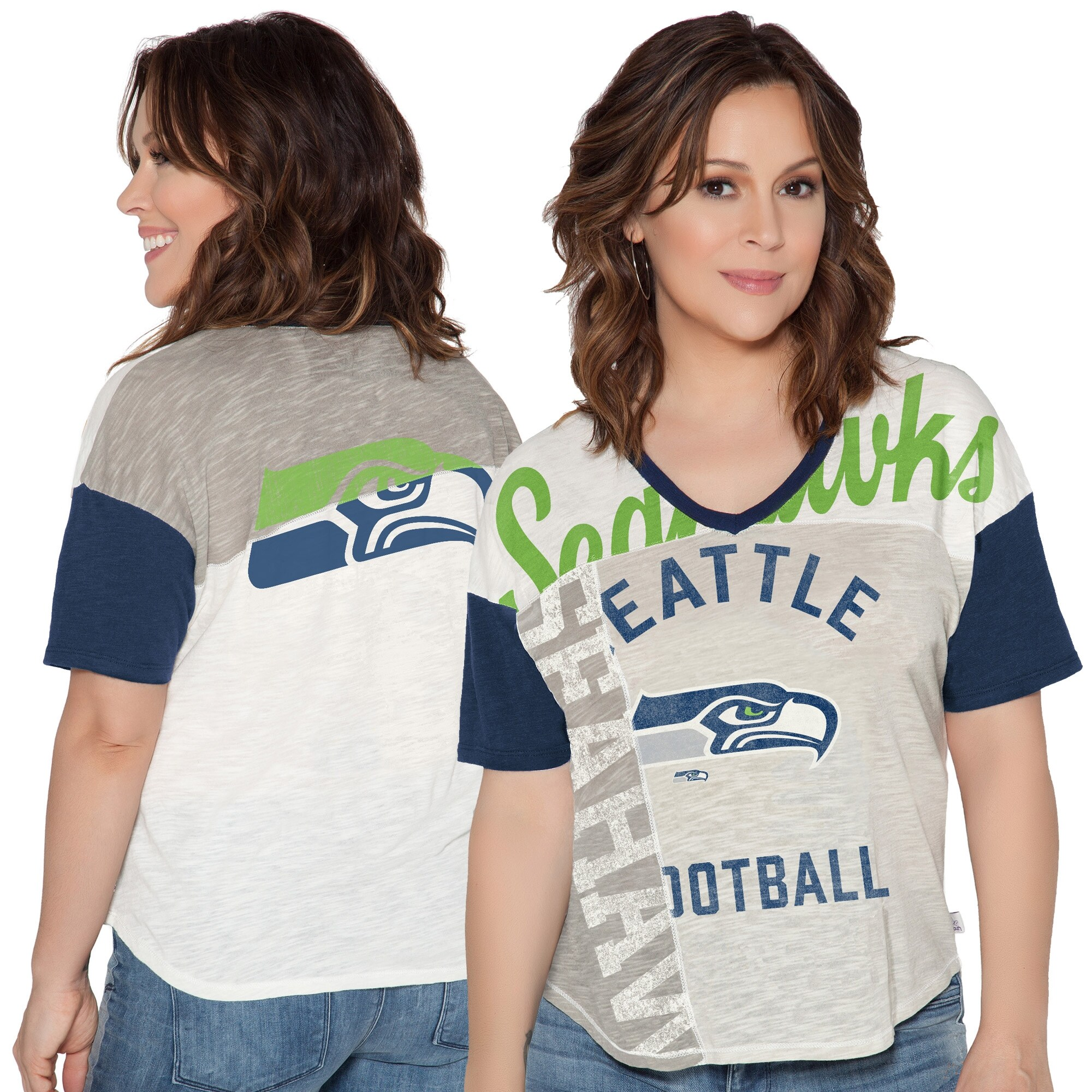 Seattle Seahawks Touch by Alyssa Milano Women's Touch Power Play T-Shirt - Cream