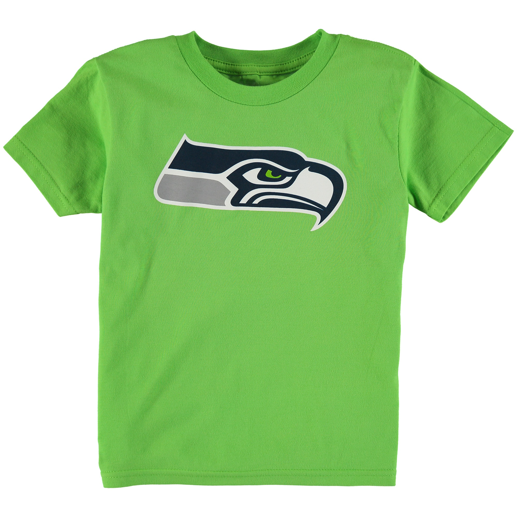 Seattle Seahawks Preschool Team Logo Short Sleeve T-Shirt - Neon Green