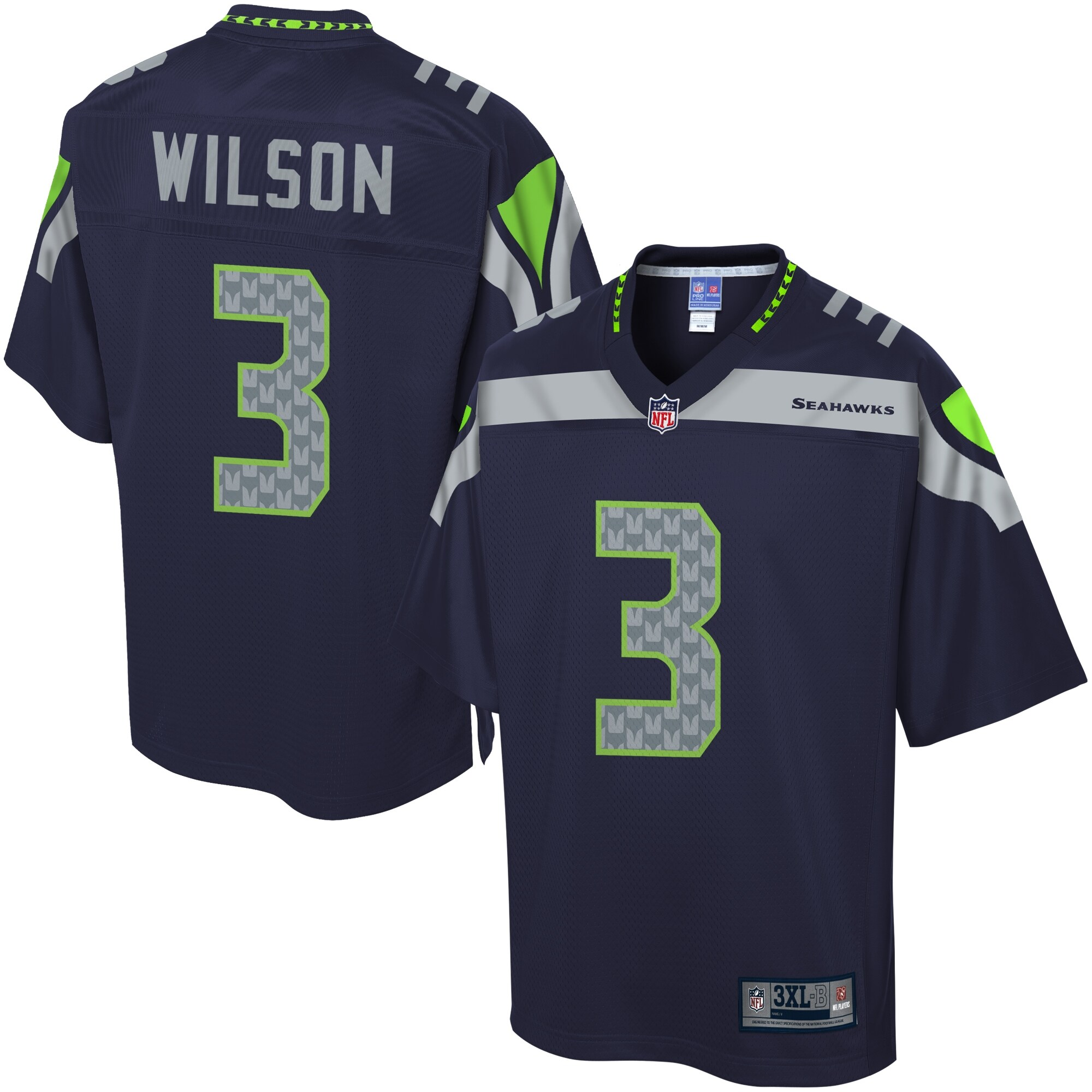 NFL Pro Line Men's Seattle Seahawks Russell Wilson Big & Tall Team Color Jersey