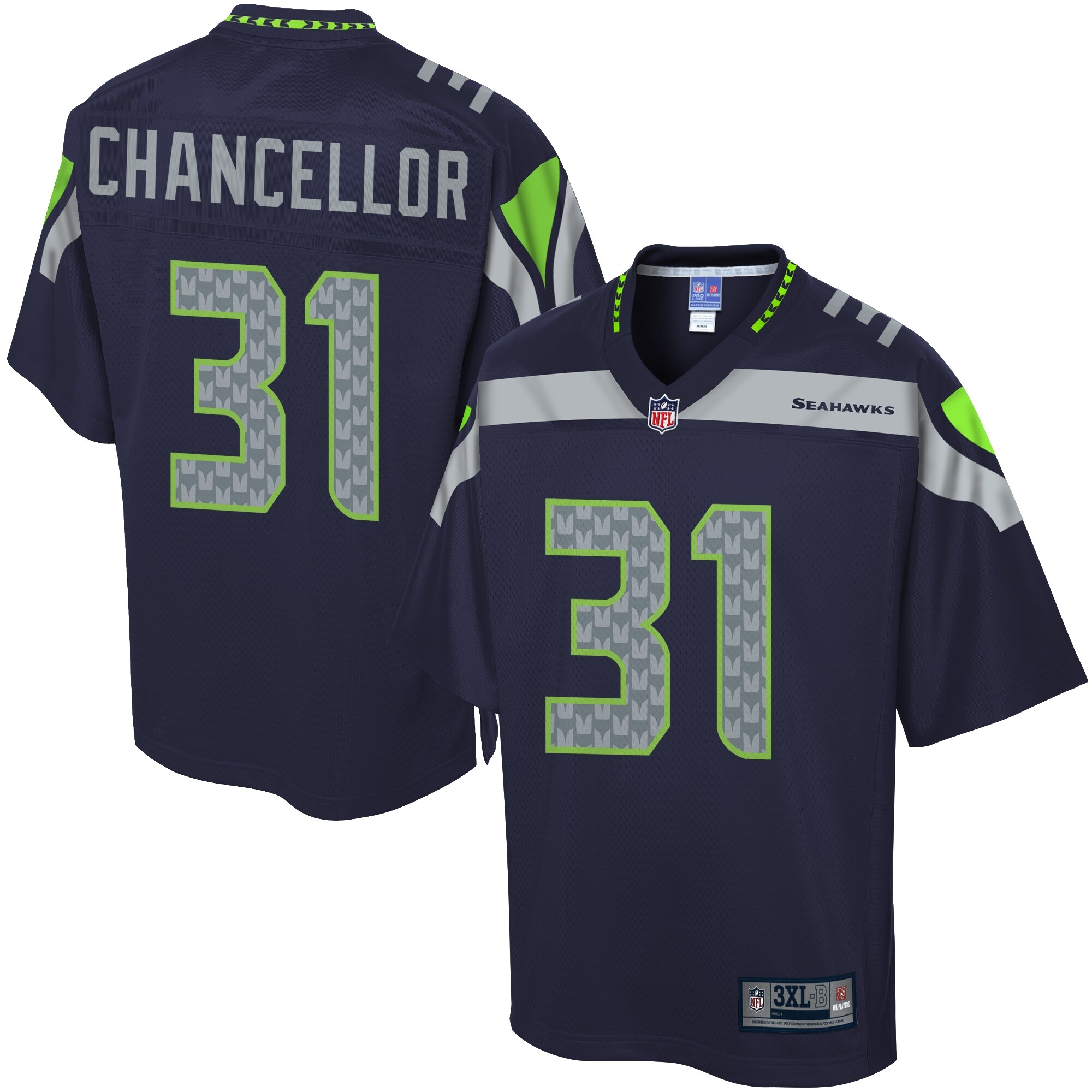 NFL Pro Line Men's Seattle Seahawks Kam Chancellor Big & Tall Team Color Jersey