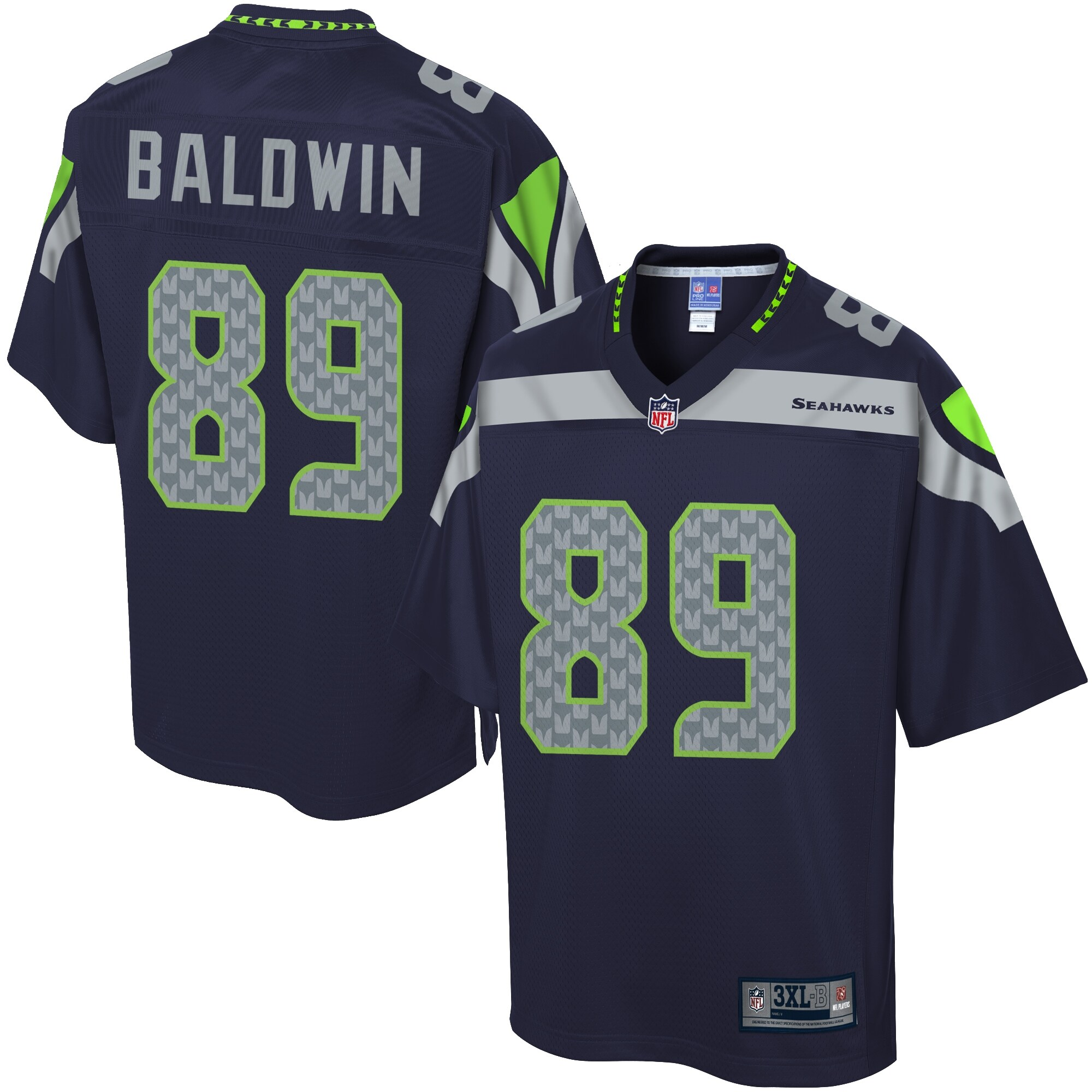 NFL Pro Line Men's Seattle Seahawks Doug Baldwin Big & Tall Team Color Jersey