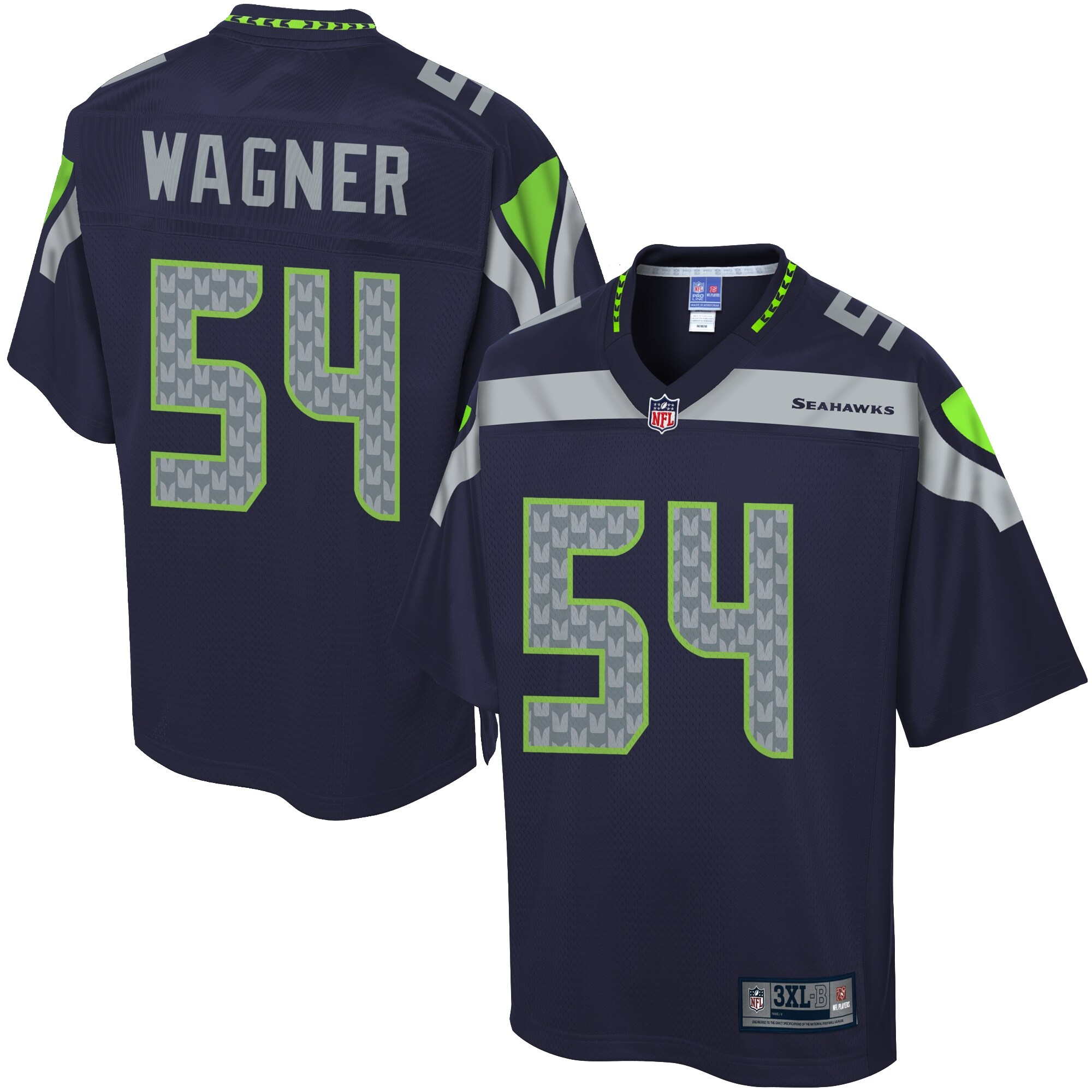 NFL Pro Line Men's Seattle Seahawks Bobby Wagner Big & Tall Team Color Jersey