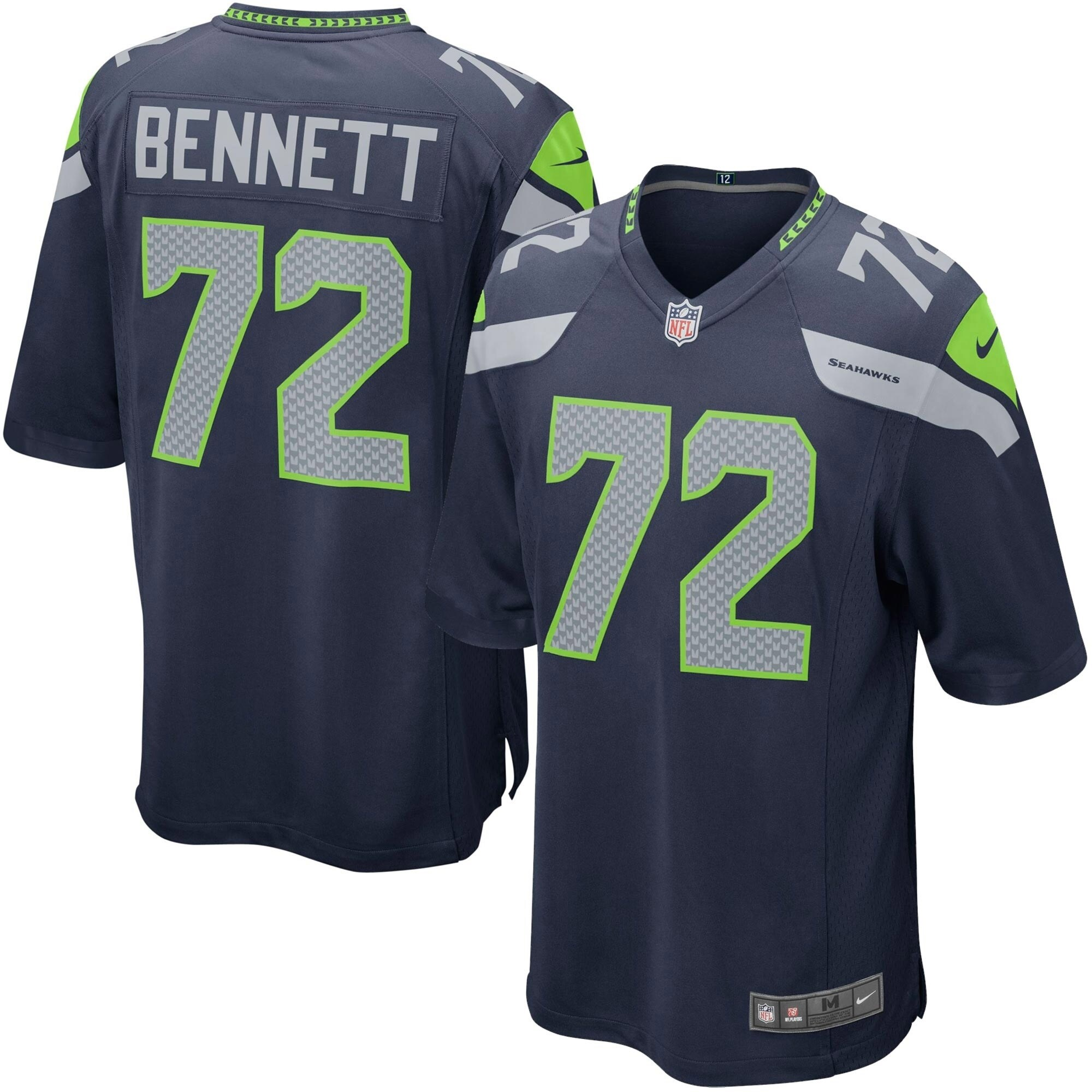Michael Bennett Seattle Seahawks Youth Nike Team Color Game Jersey - Navy Blue