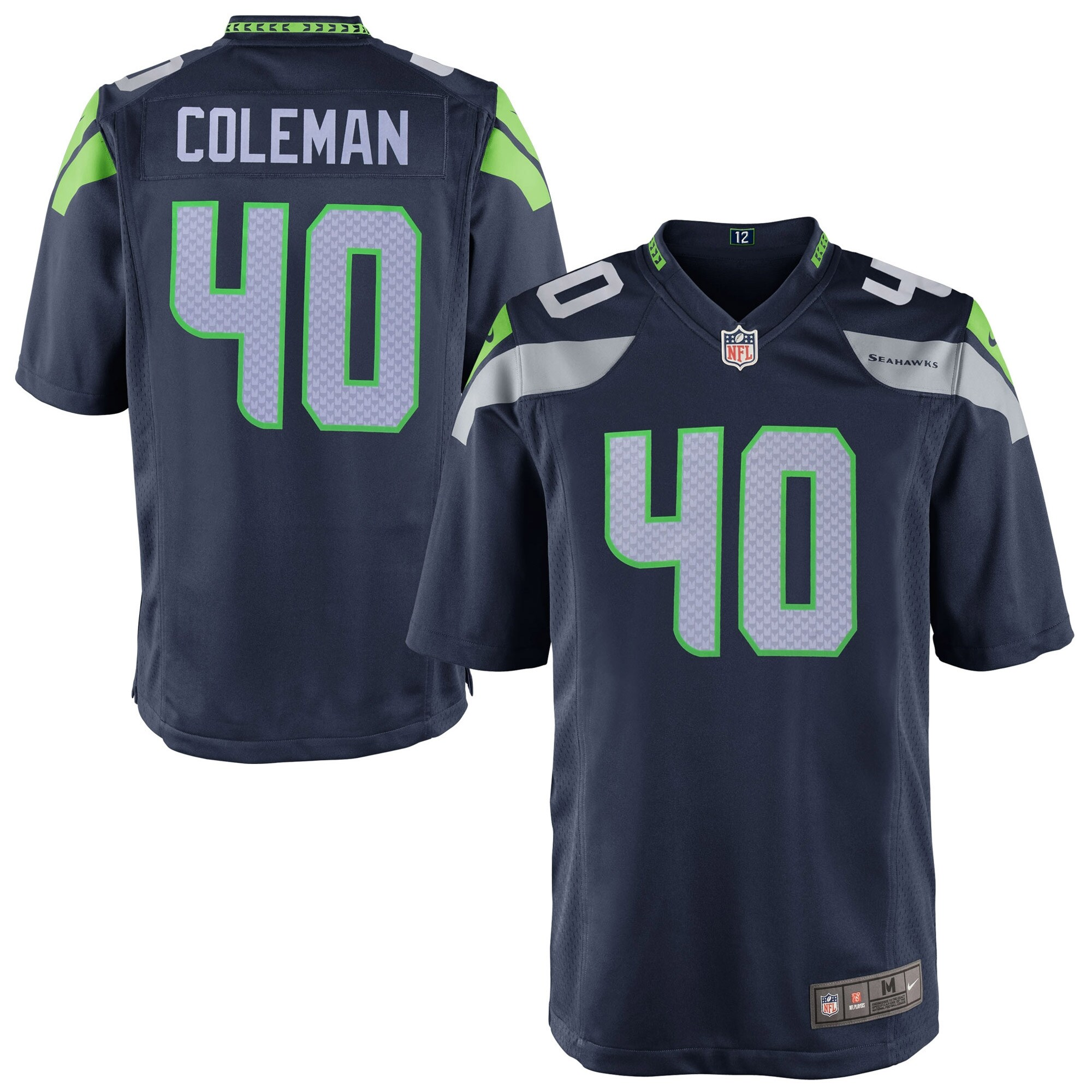 Derrick Coleman Seattle Seahawks Youth Nike Team Color Game Jersey - Navy Blue
