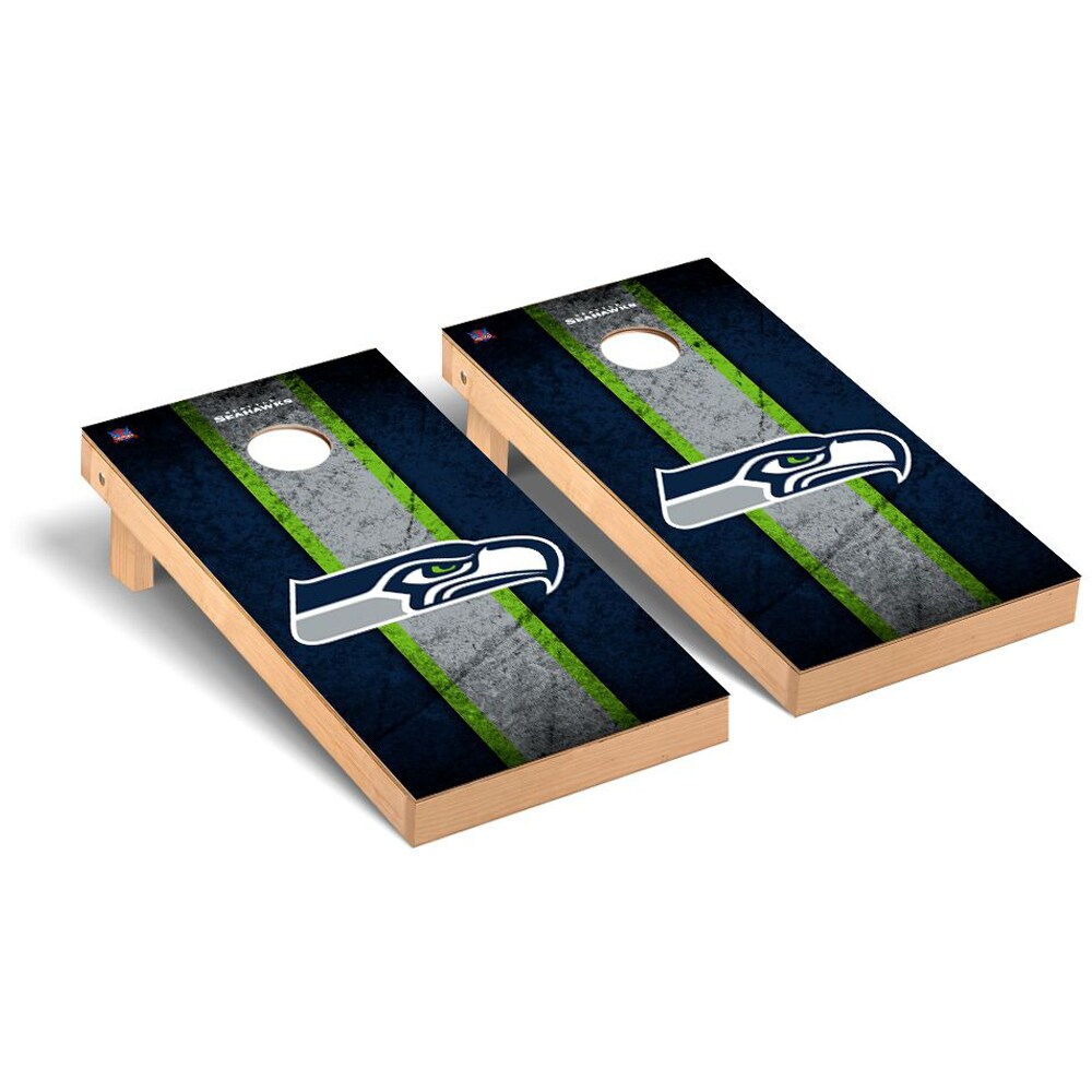 Seattle Seahawks 2' x 4' Vintage Regulation Cornhole Board Tailgate Toss Set