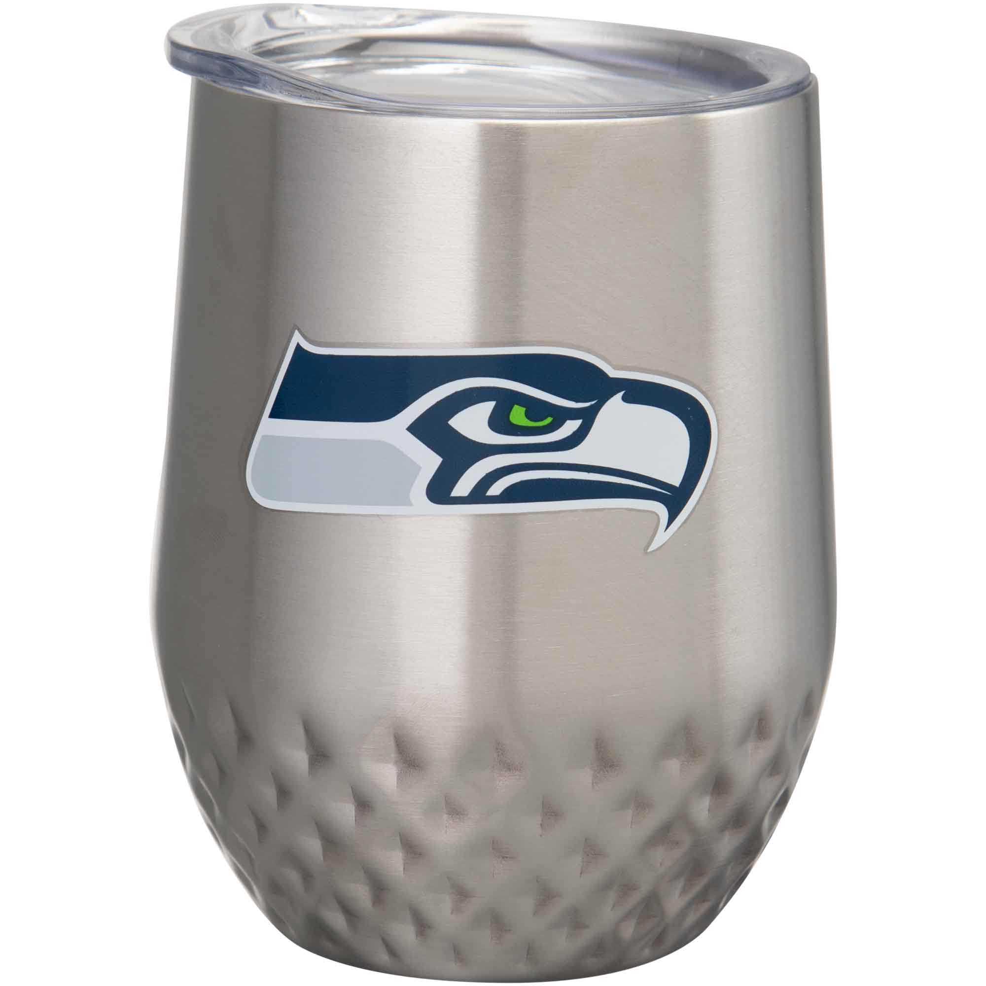 Seattle Seahawks 12oz. Stainless Steel Stemless Diamond Tumbler