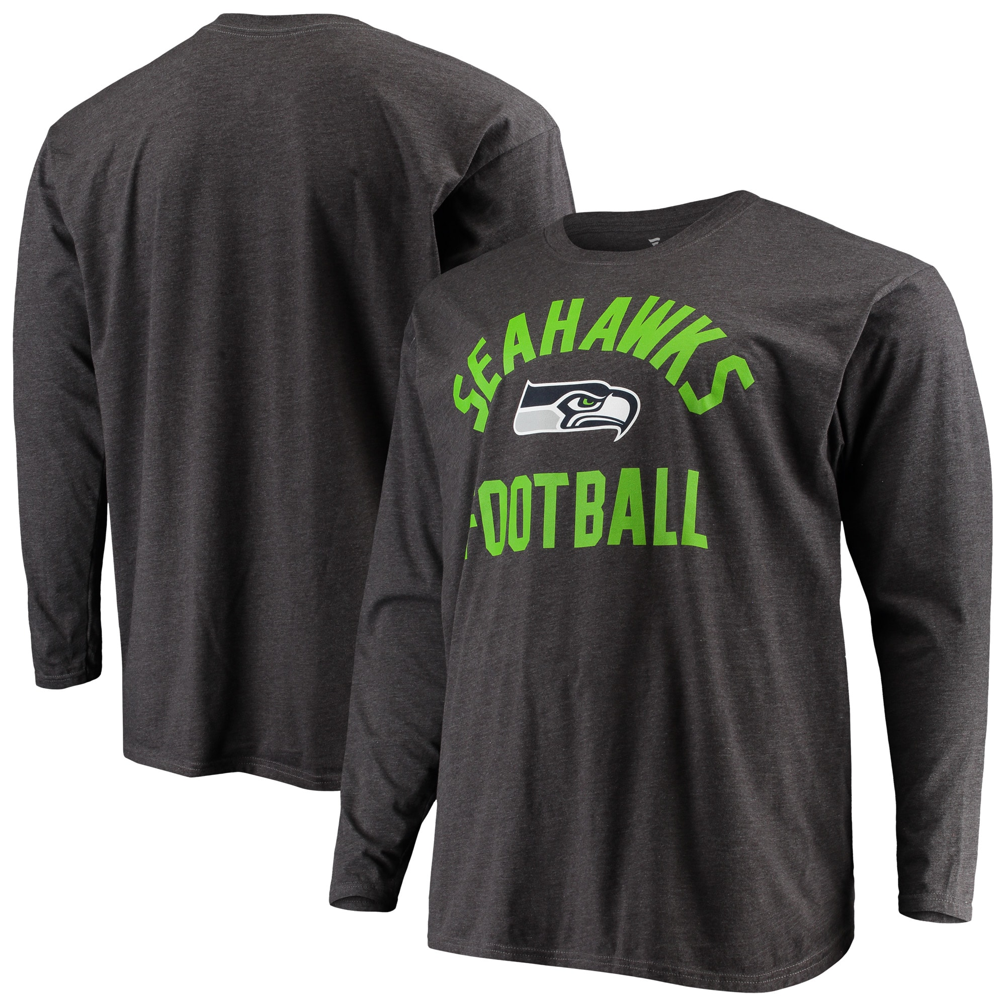 Seattle Seahawks NFL Pro Line by Fanatics Branded Big & Tall Team Pride Long Sleeve T-Shirt - Heathered Charcoal