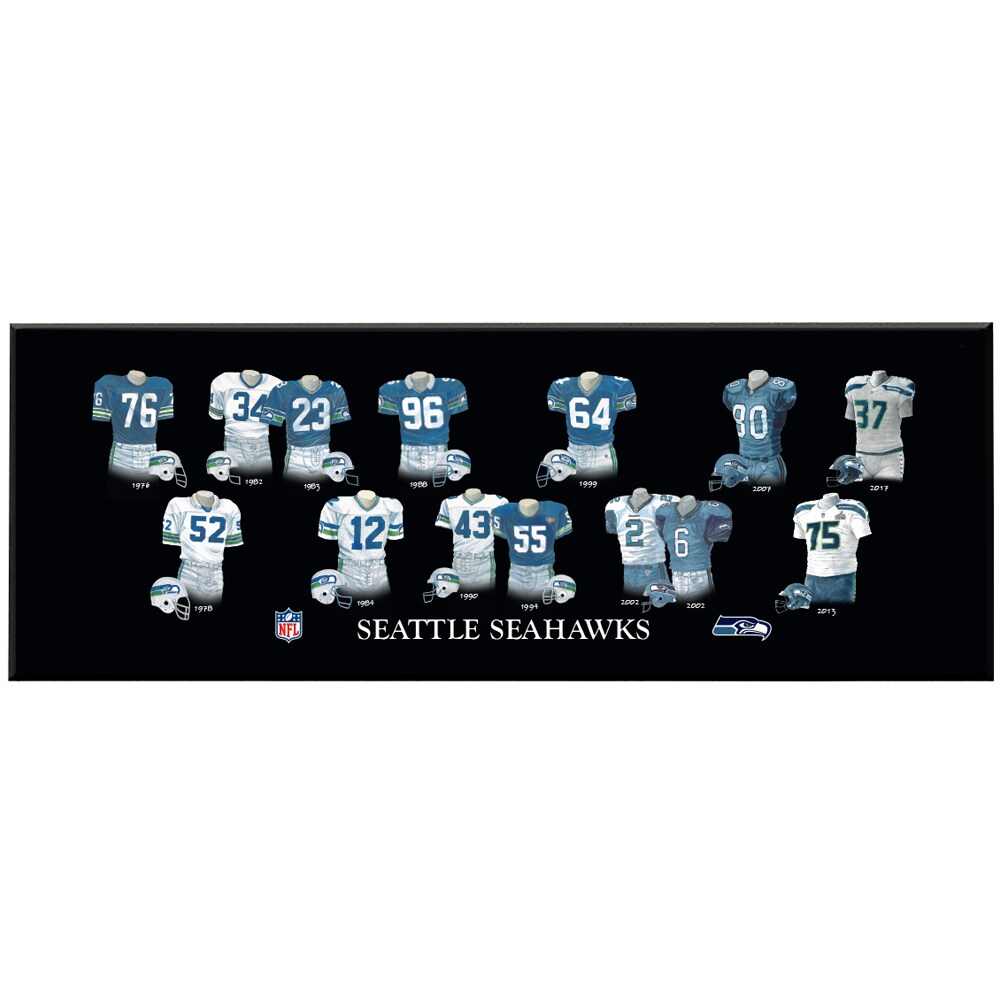 Seattle Seahawks 8'' x 24'' Uniform Evolution Plaque